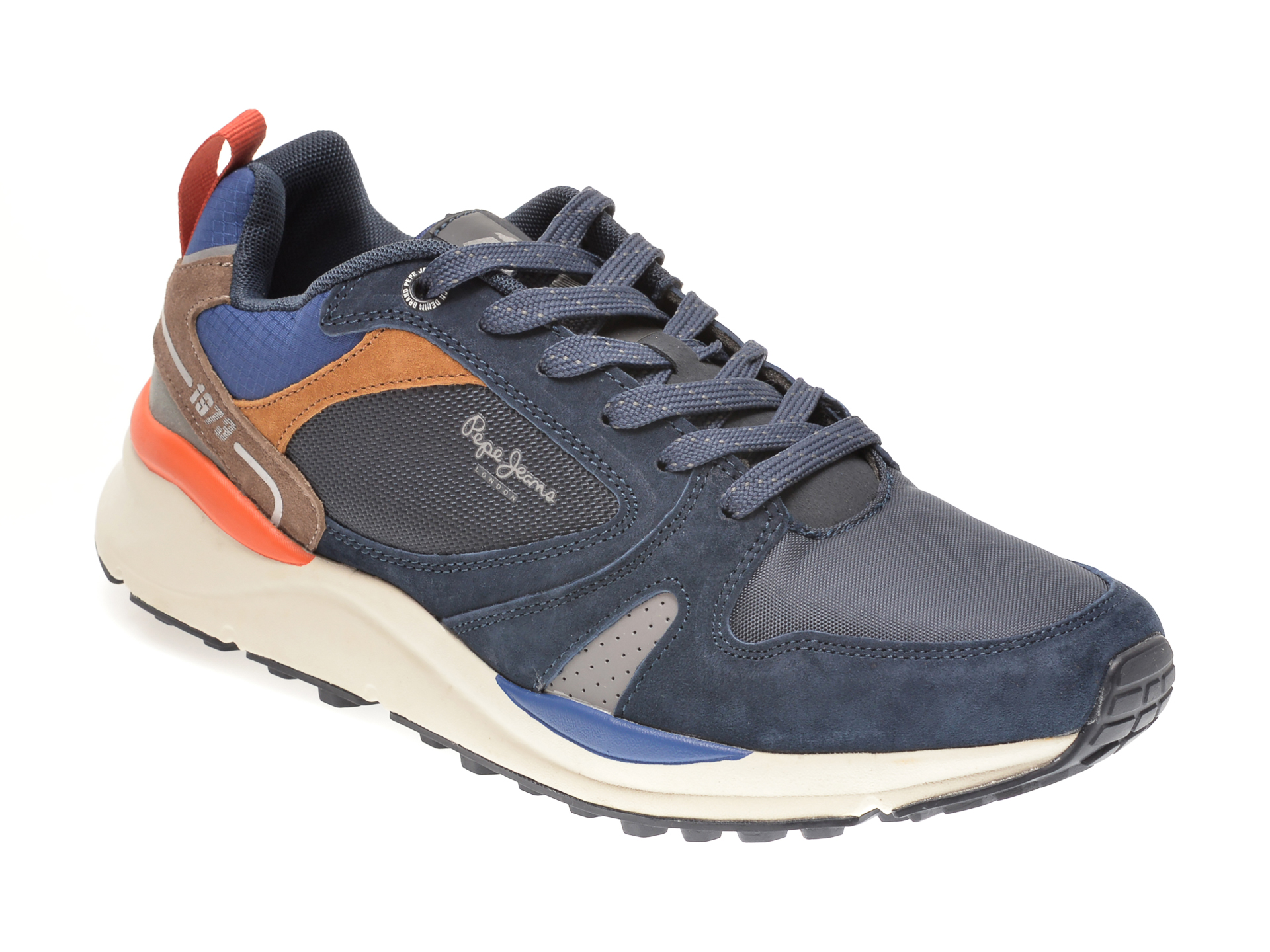 Pantofi sport PEPE JEANS bleumarin, MS30679, din material textil si piele intoarsa