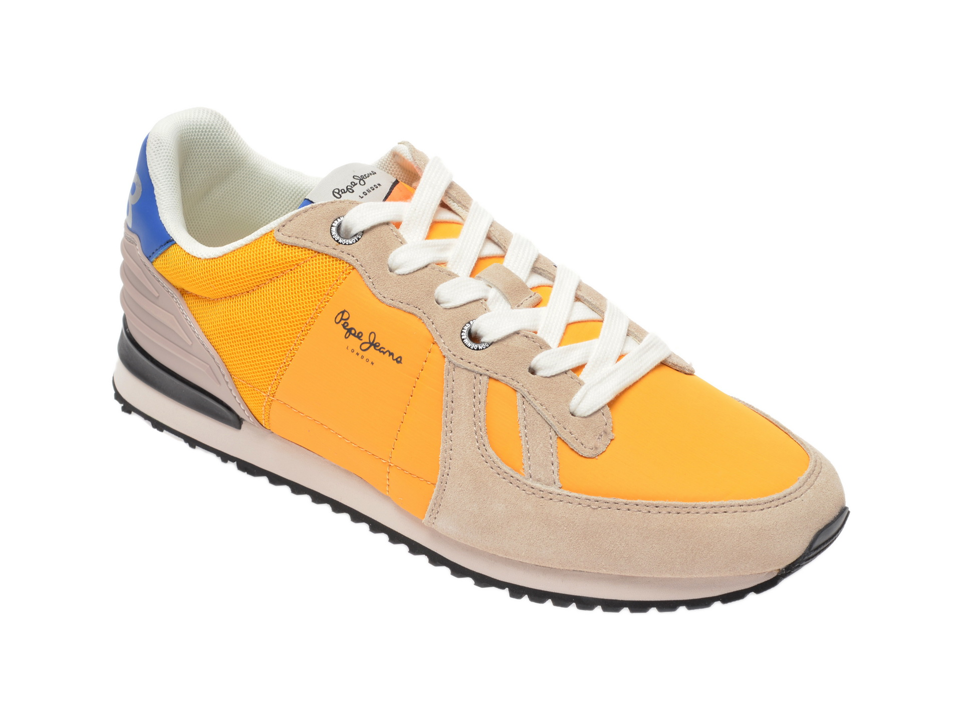 Pantofi sport PEPE JEANS galbeni, PMS30621, din material textil si piele intoarsa