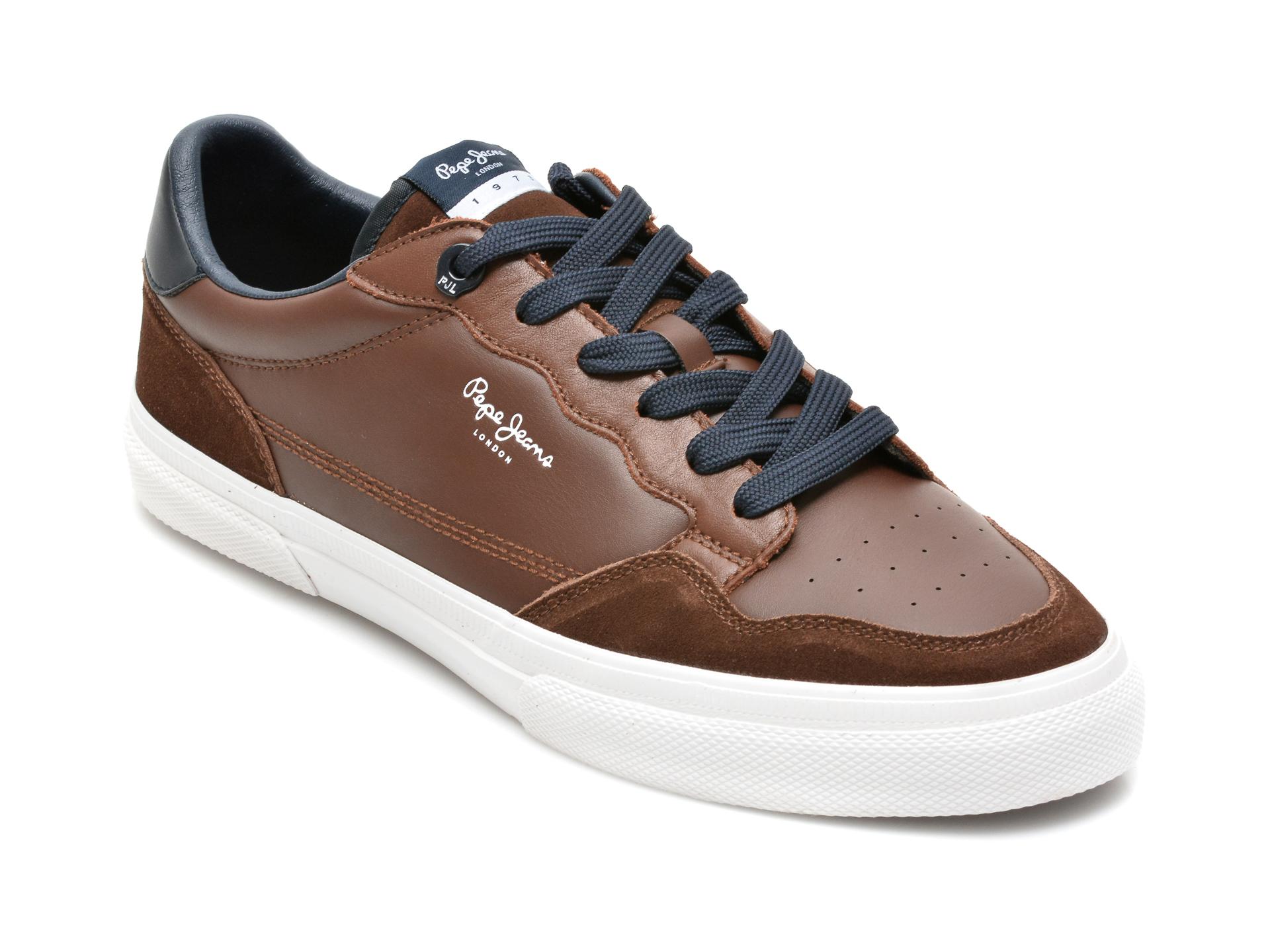 Pantofi sport PEPE JEANS maro, MS30765, din piele naturala