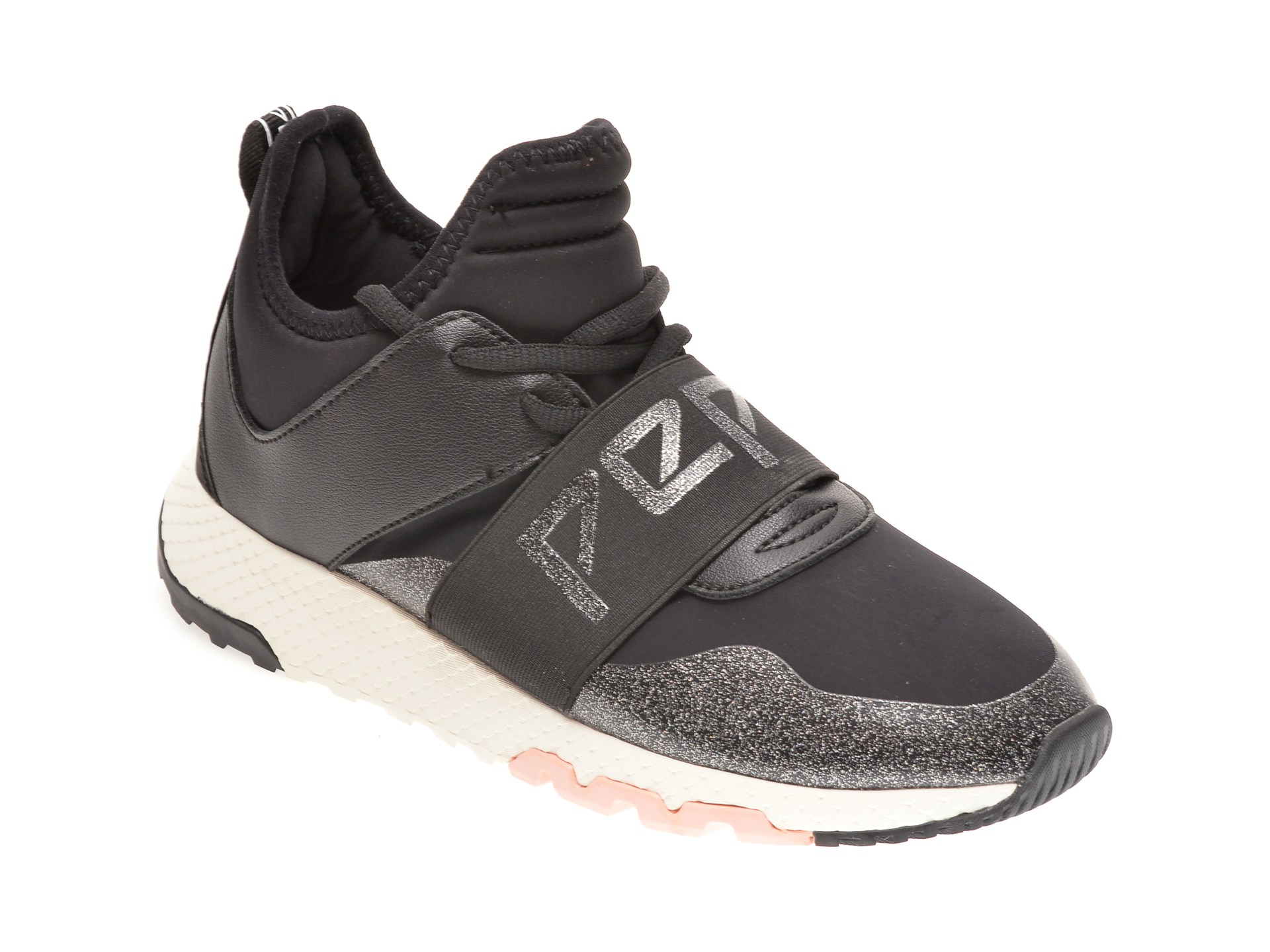 Pantofi sport PEPE JEANS negri, LS31060, din material textil si piele ecologica