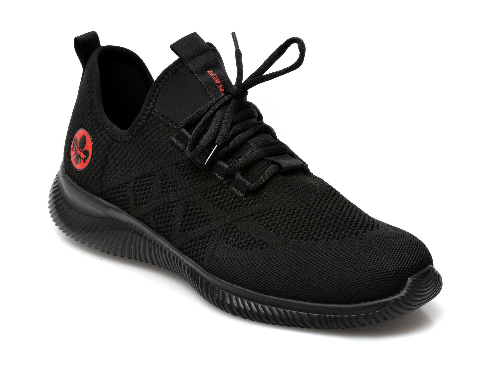 Pantofi sport RIEKER negri, B7476, din material textil