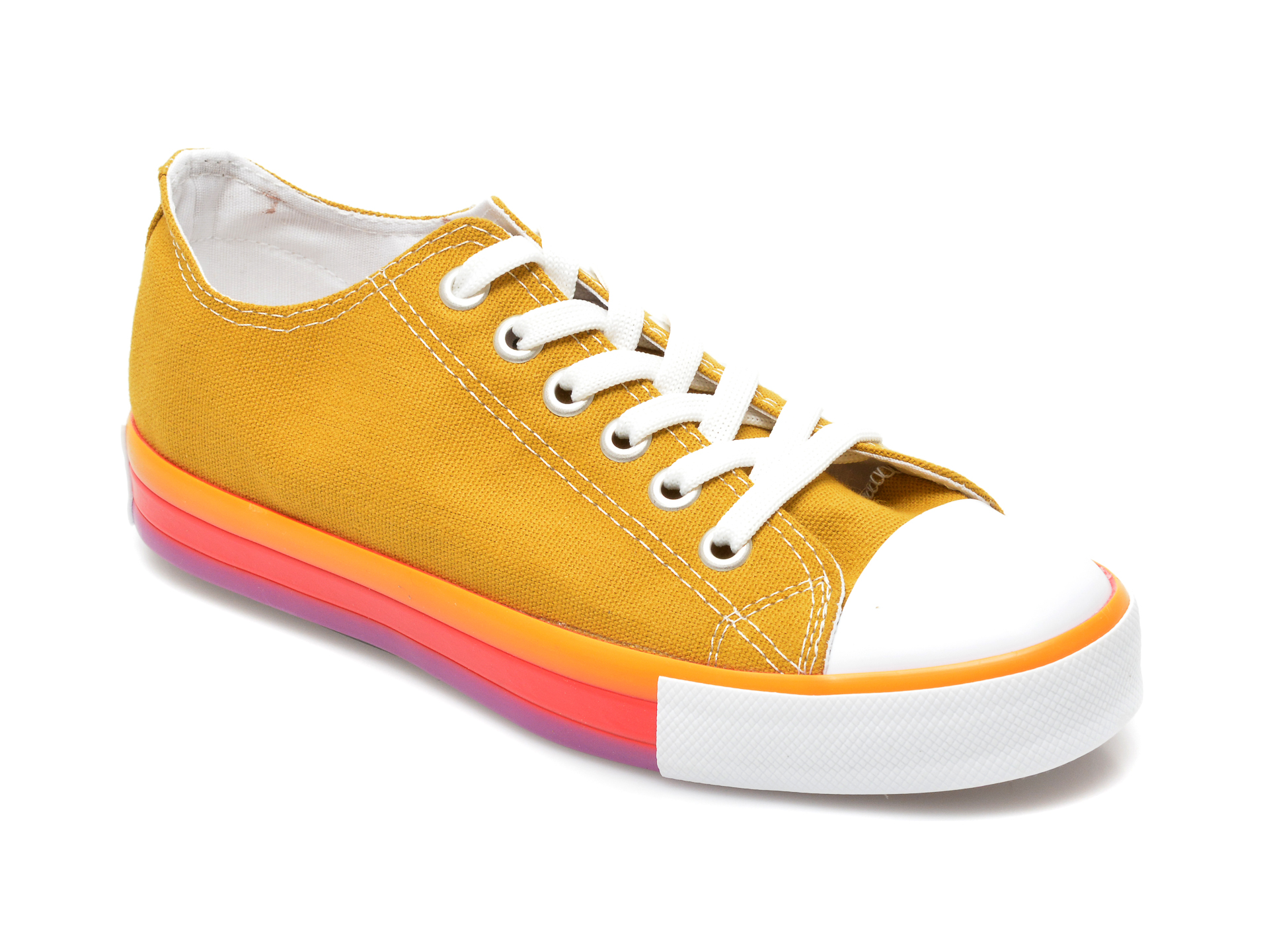 Pantofi sport ROCK STAR galbeni, UMT101, din material textil