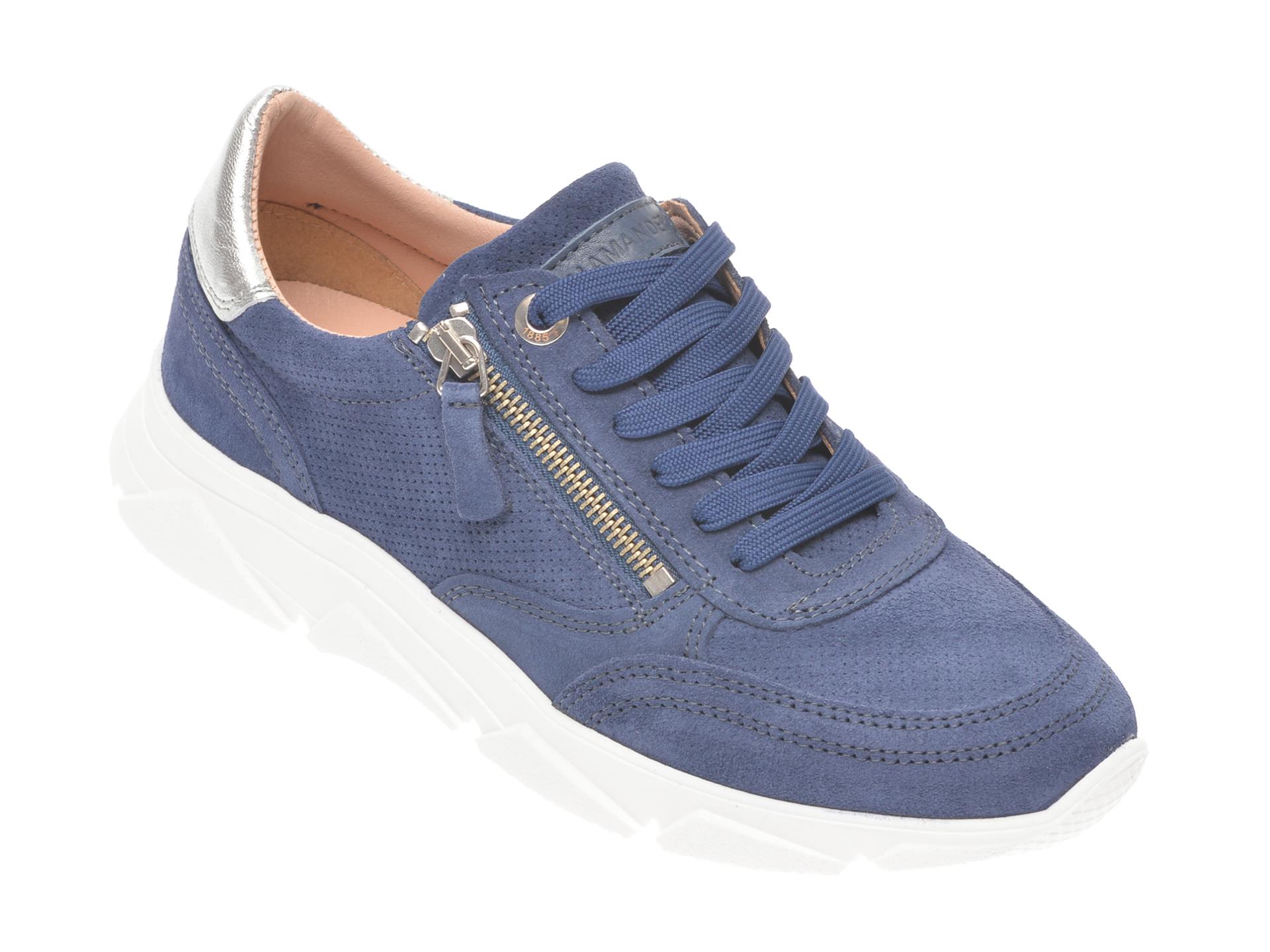 Pantofi sport SALAMANDER bleumarin 55402, din piele intoarsa imagine