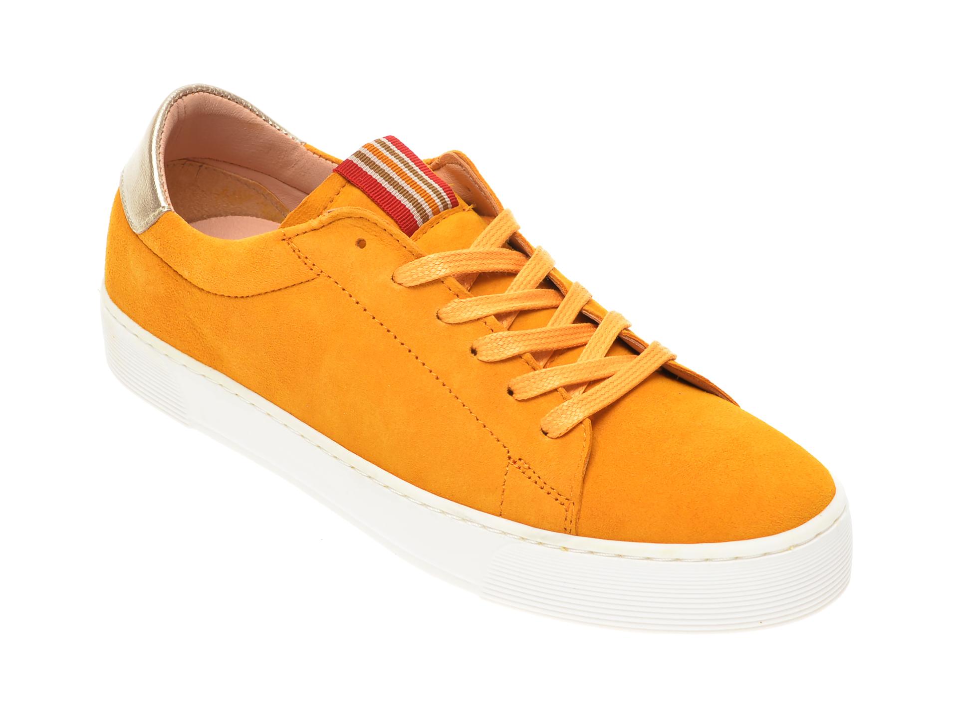 Pantofi sport SALAMANDER galbeni, 55301, din piele intoarsa imagine
