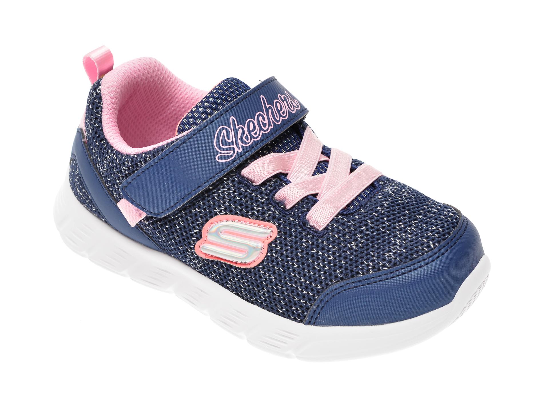 Pantofi sport SKECHERS bleumarin, Comfy Flex, din material textil imagine
