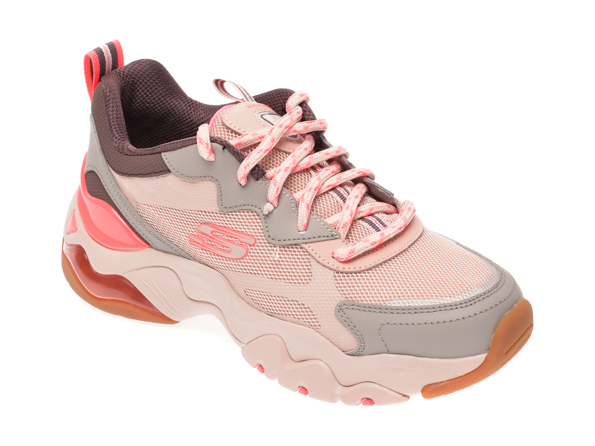 Pantofi Sport Skechers Multicolor, Dlites 3.0 Air, Din Material Textil Si Piele Naturala