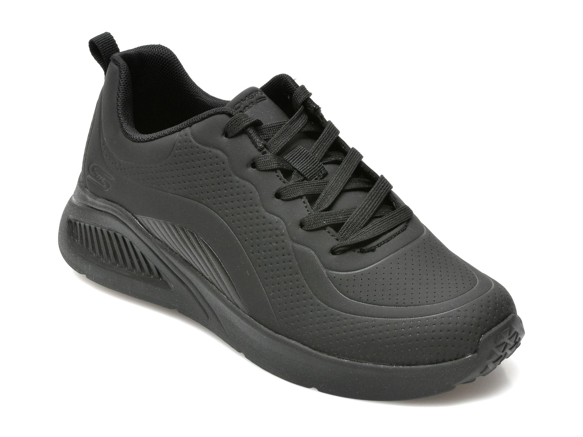 Pantofi Sport Skechers Negri, Bobs Buno, Din Piele Ecologica