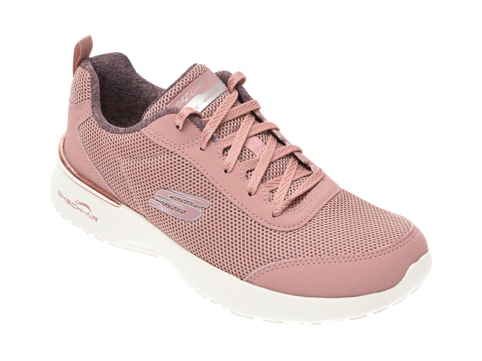 Pantofi sport SKECHERS roz, Skech-Air Dynamight Fast Brake, din material textil imagine