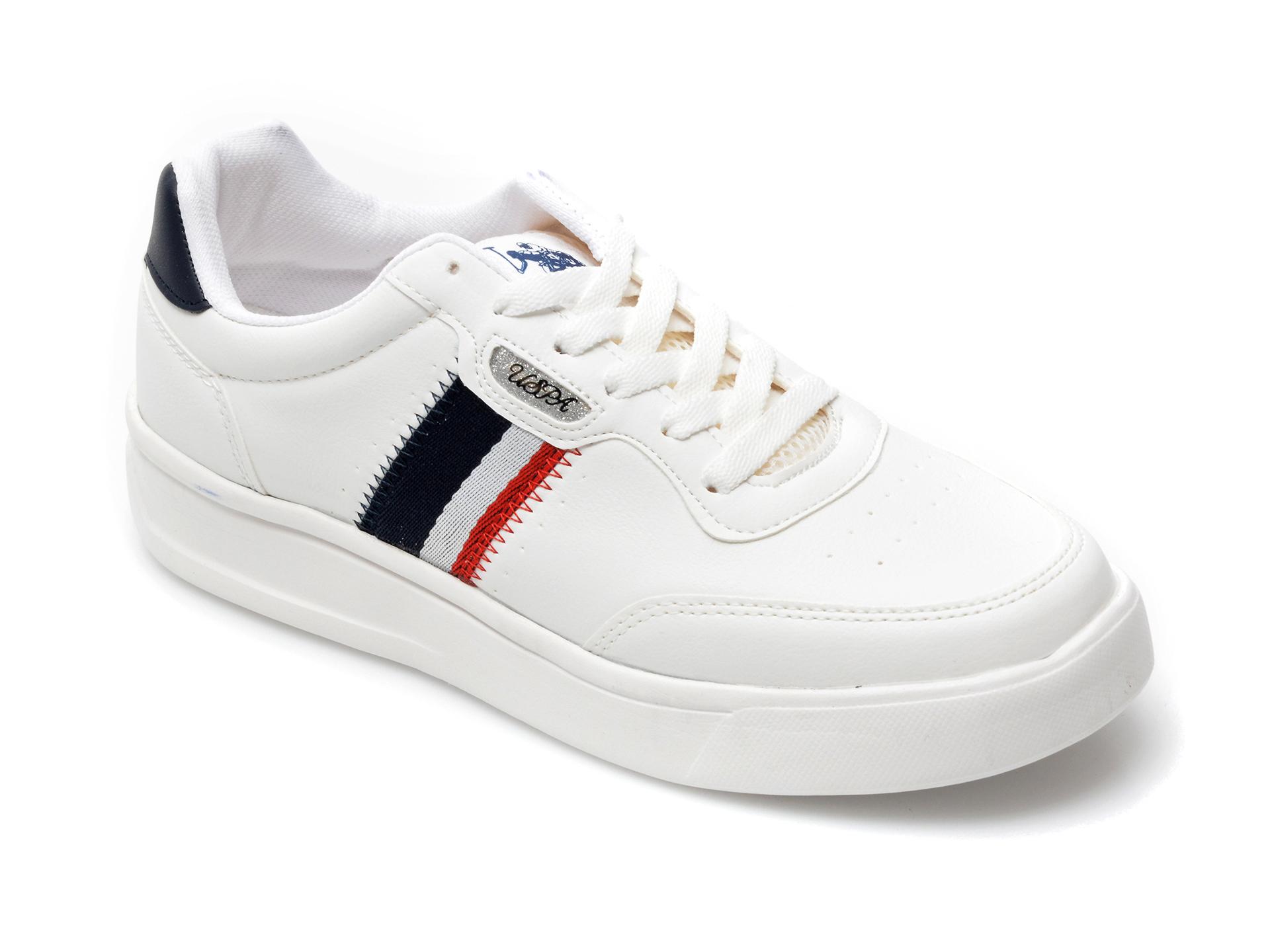 Pantofi Sport Us Polo Assn Albi, Elita, Din Piele Ecologica