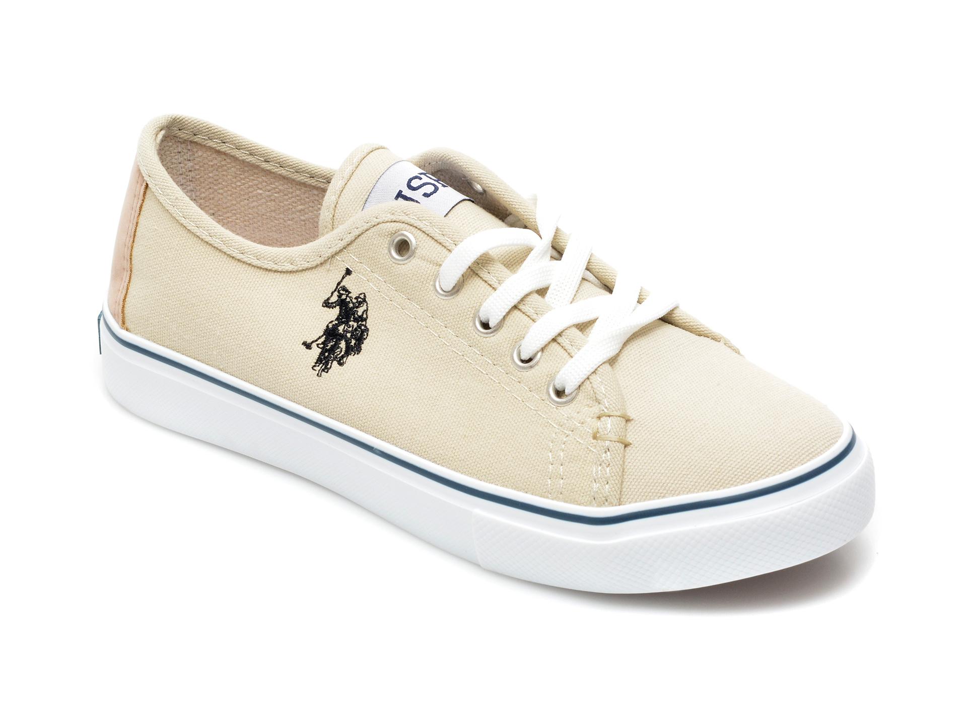 Pantofi sport US POLO ASSN bej, TOGA1FX, din material textil