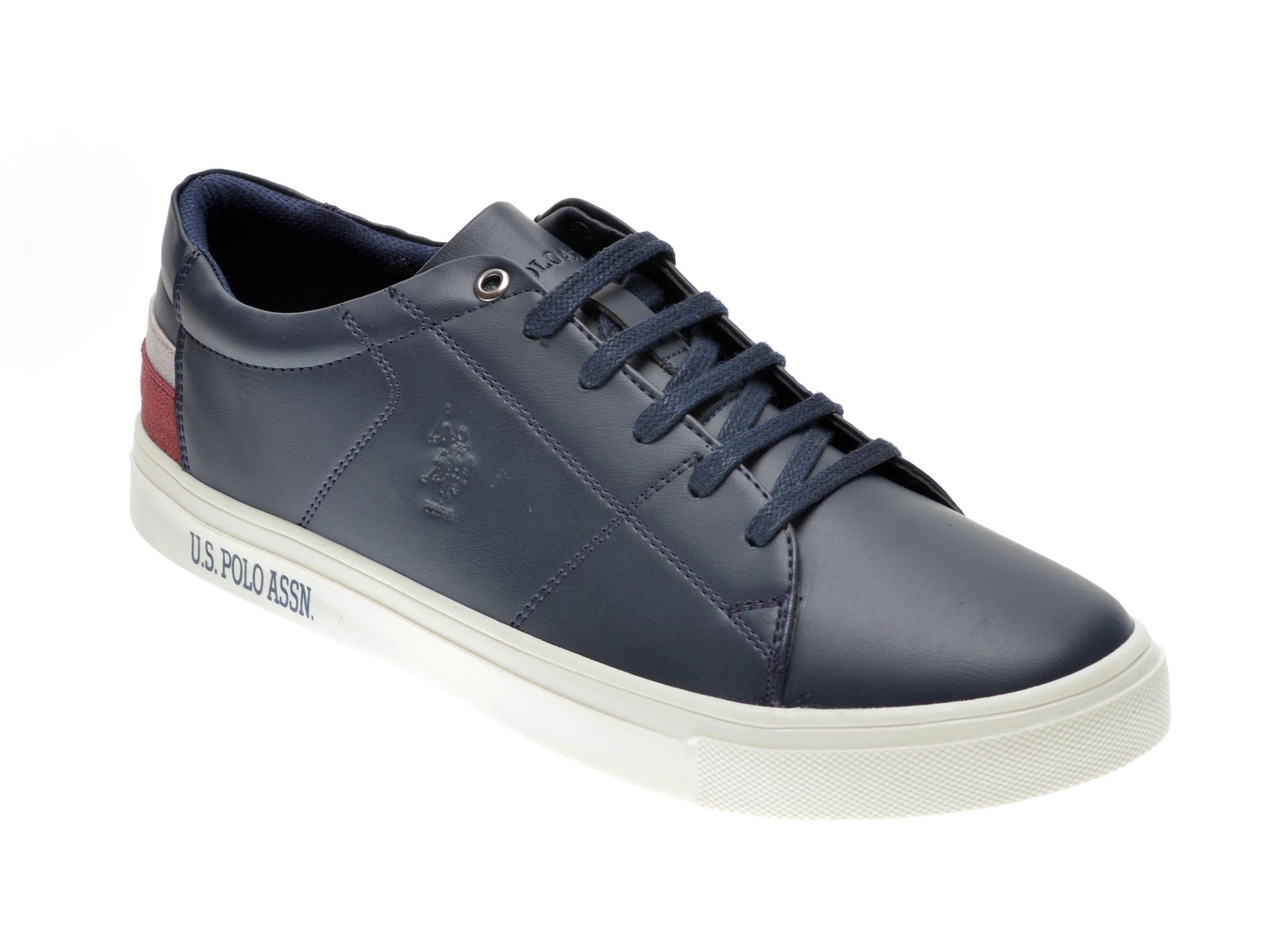 Pantofi Sport Us Polo Assn Bleumarin, 422447, Din Piele Ecologica