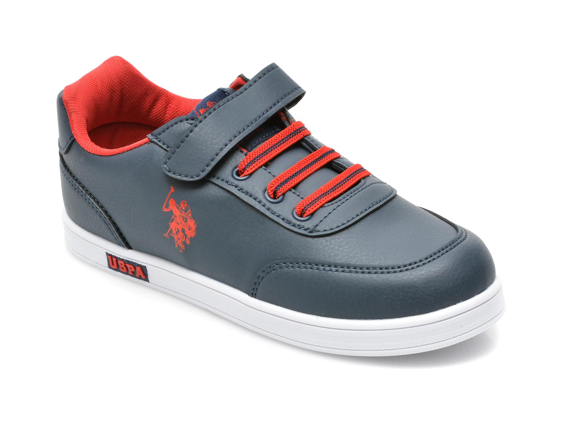 Pantofi sport US POLO ASSN bleumarin, ALEN1FX, din piele ecologica