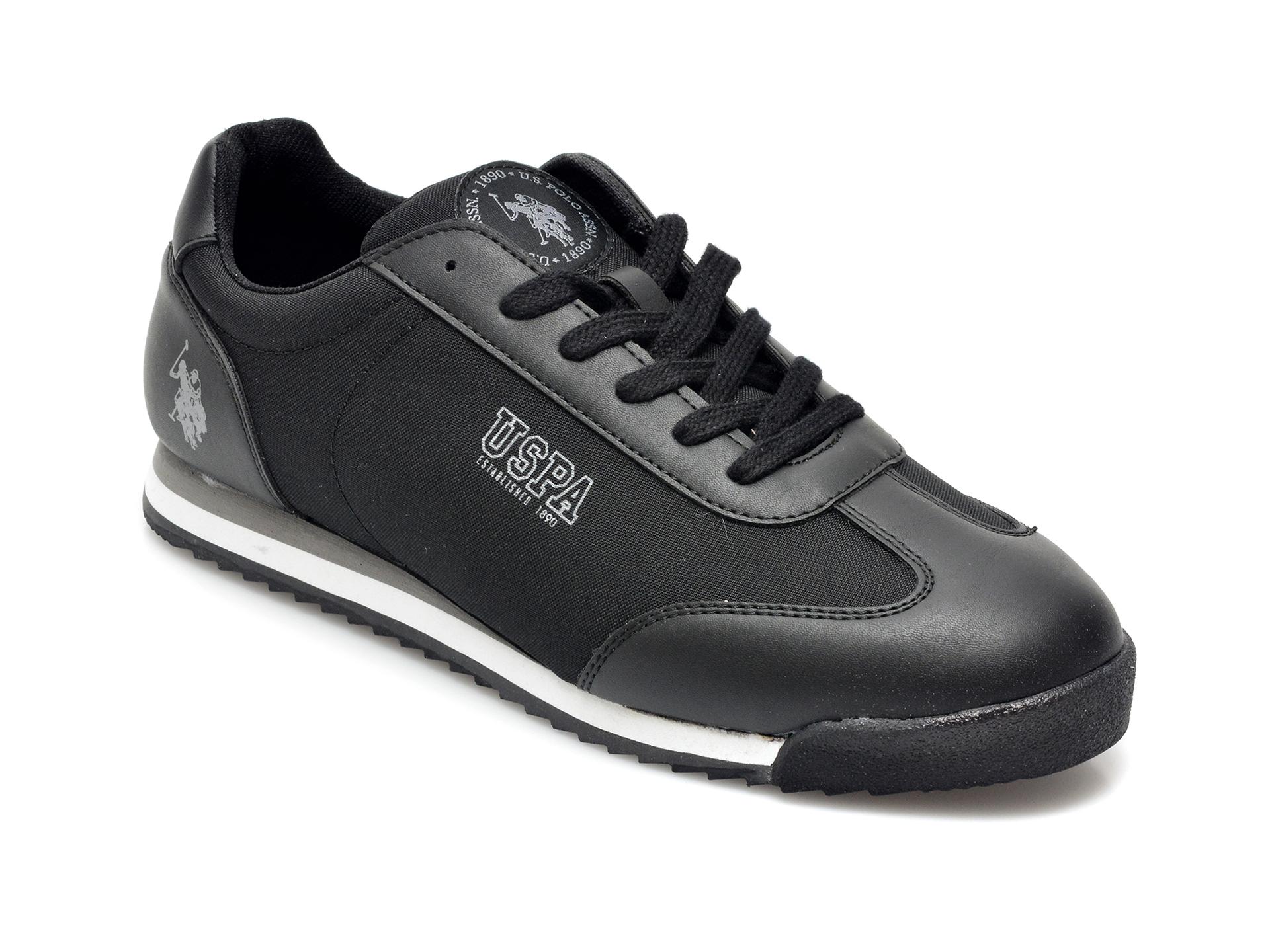 Pantofi sport US POLO ASSN negri, PENE1FX, din material textil