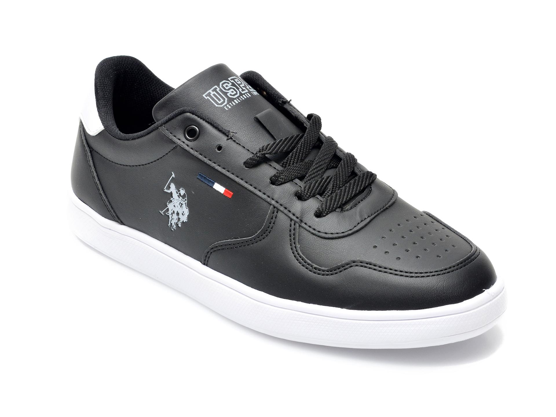 Pantofi Sport Us Polo Assn Negri, Thunwmn, Din Piele Ecologica