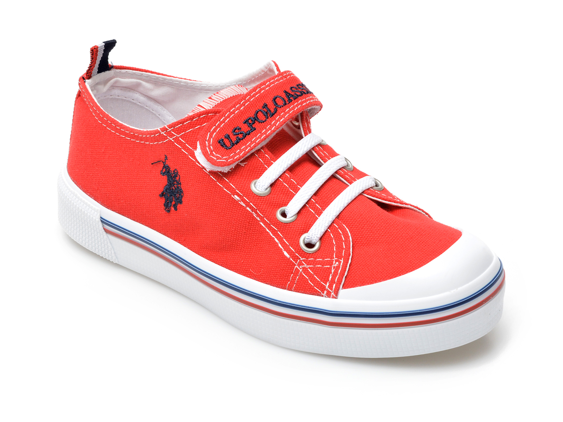 Pantofi US POLO ASSN rosii, MICK1FX, din material textil