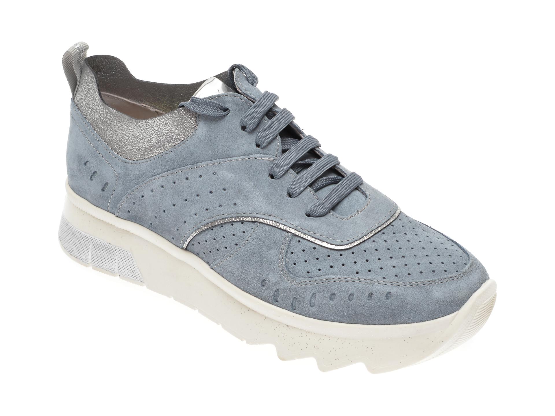 Pantofi STONEFLY albastri, SPOCK14, din piele naturala