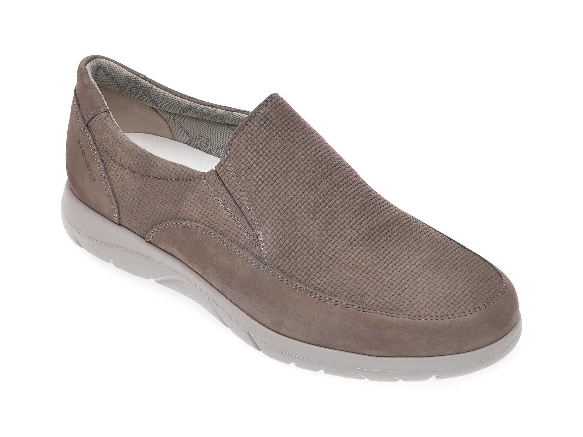 Pantofi STONEFLY gri, SPAMA26, din nabuc imagine