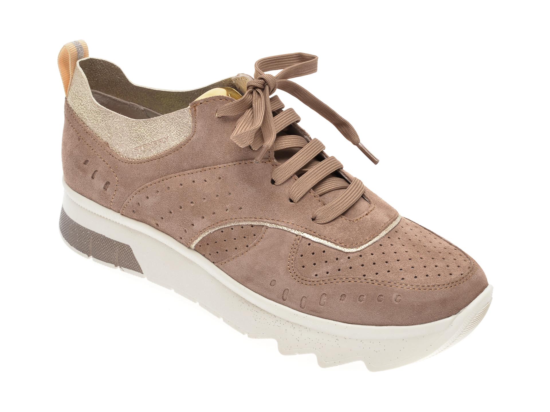 Pantofi STONEFLY maro, SPOCK14, din piele intoarsa
