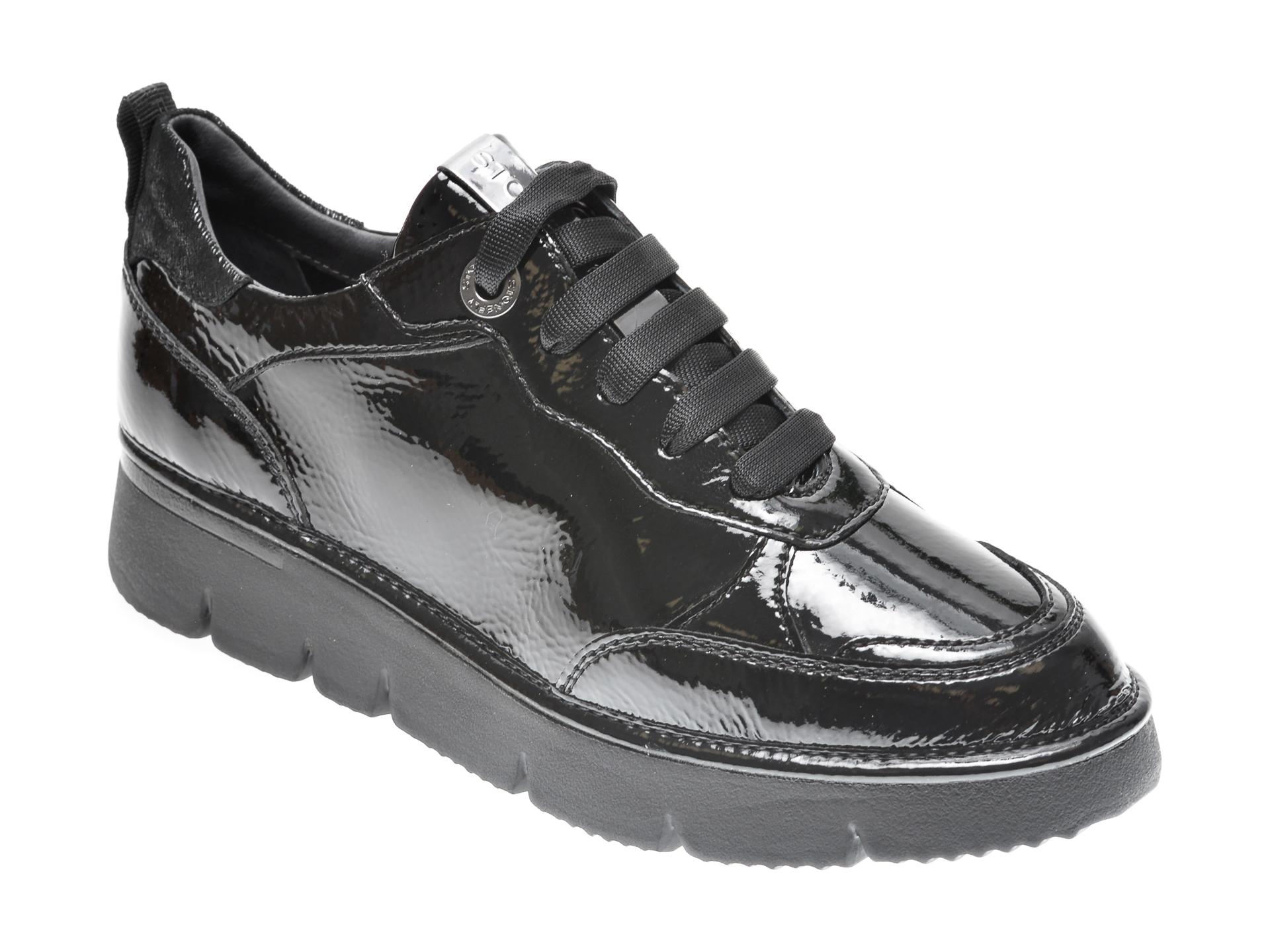 Pantofi STONEFLY negri, STREAM5, din piele naturala