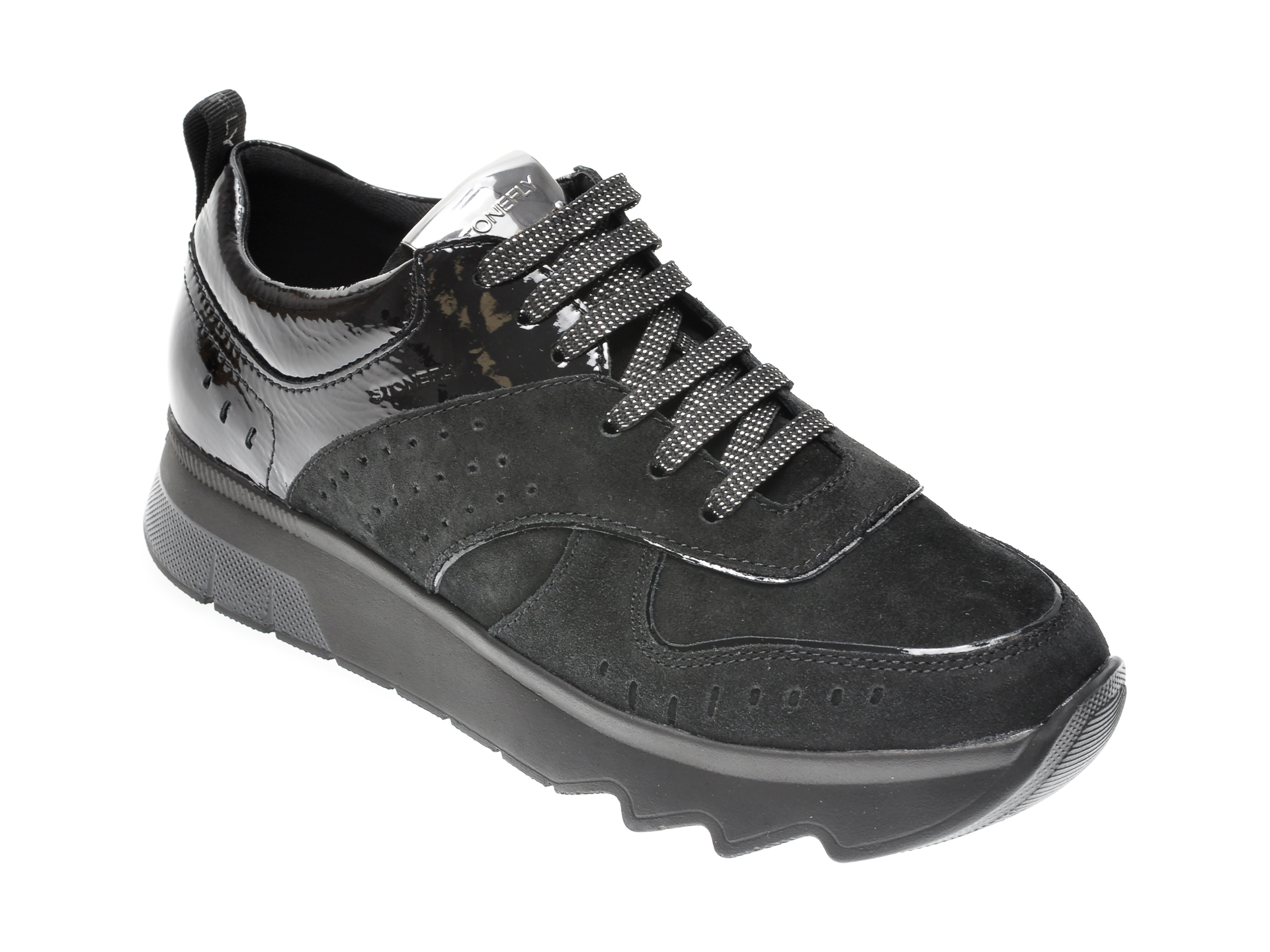 Pantofi STONEFLY negri, CREAM21, din piele intoarsa