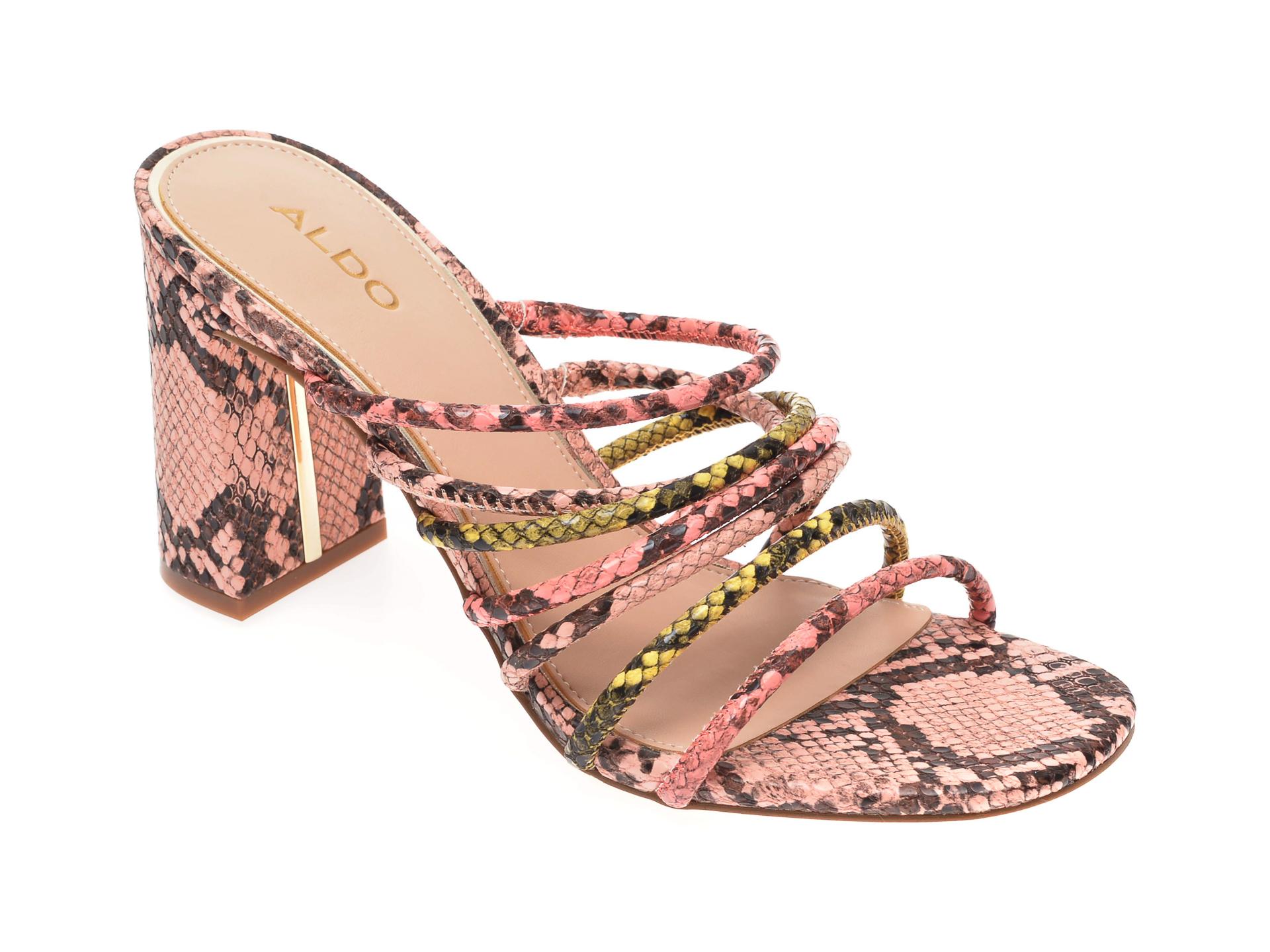 Papuci ALDO roz, Trelidda690, din piele ecologica imagine