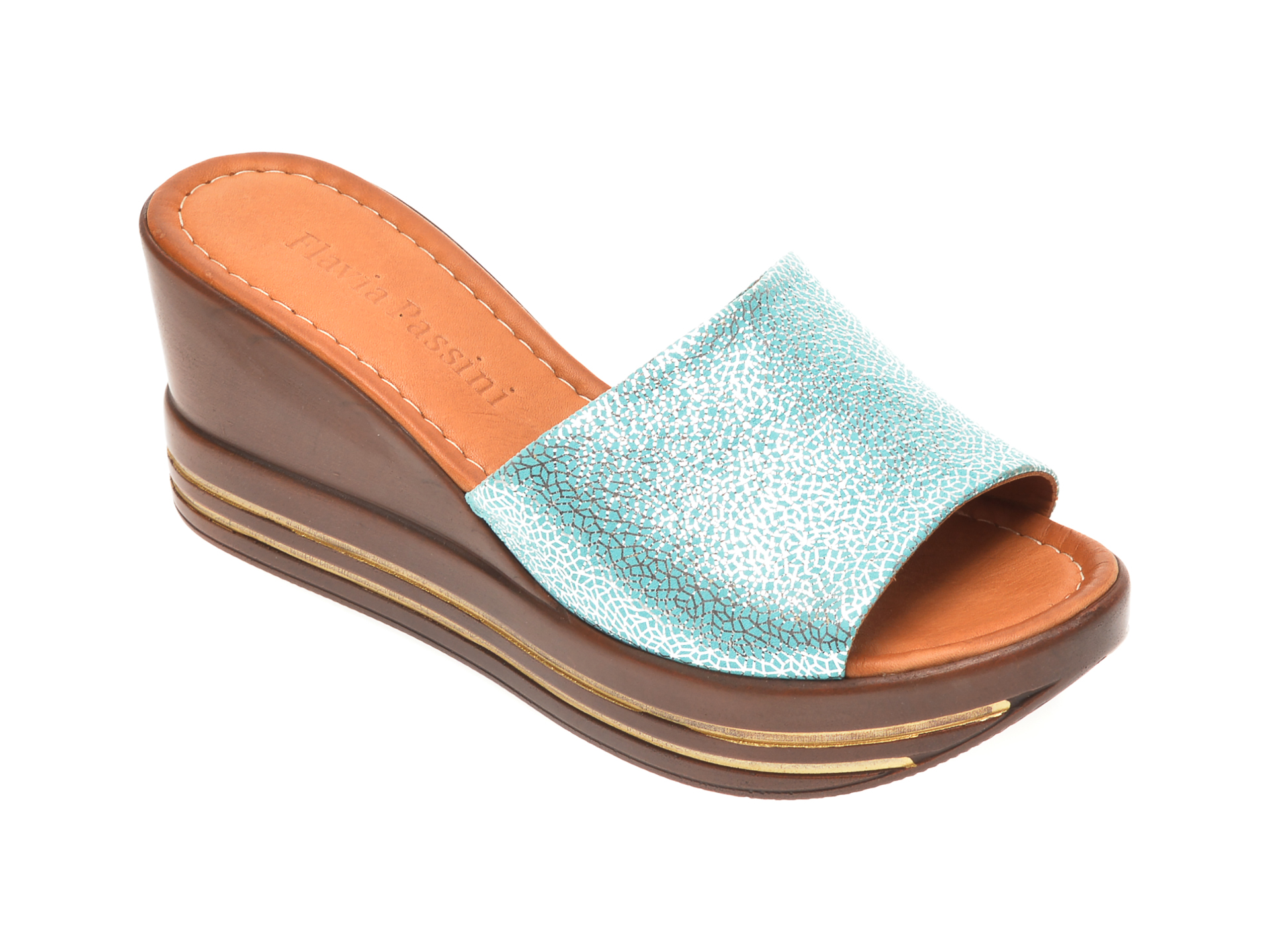 Papuci FLAVIA PASSINI albastri, 1181513, din piele naturala imagine