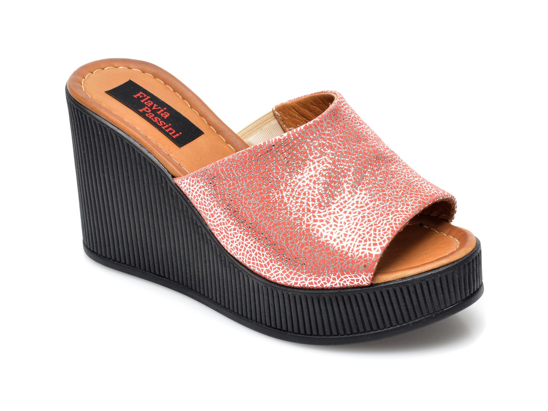 Papuci FLAVIA PASSINI rosii, 1062CV, din piele naturala