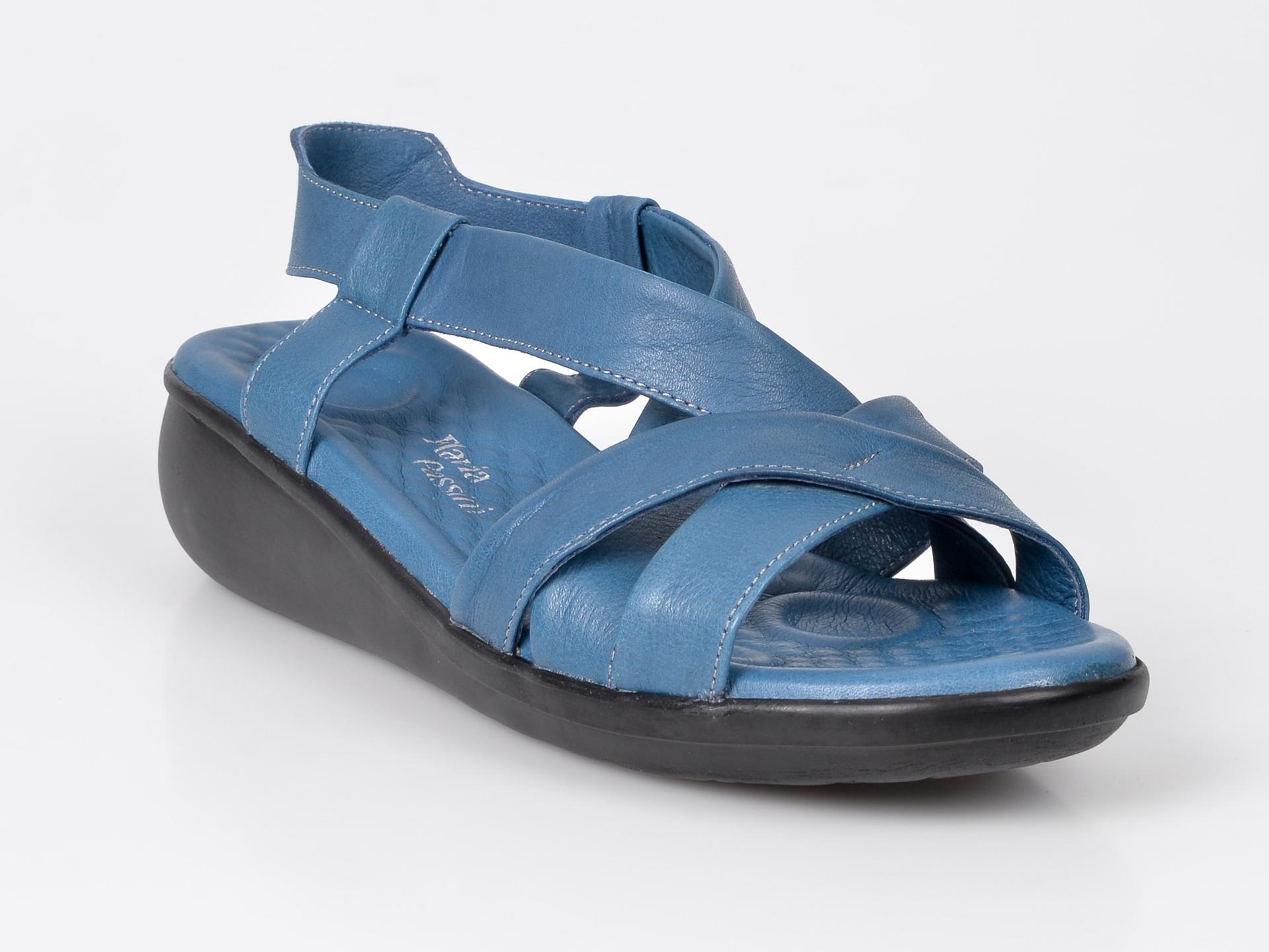Sandale FLAVIA PASSINI albastre, din piele naturala imagine