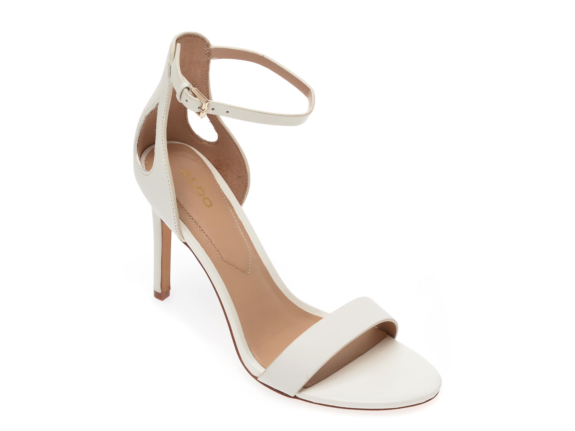Sandale ALDO albe, Violla100, din piele naturala