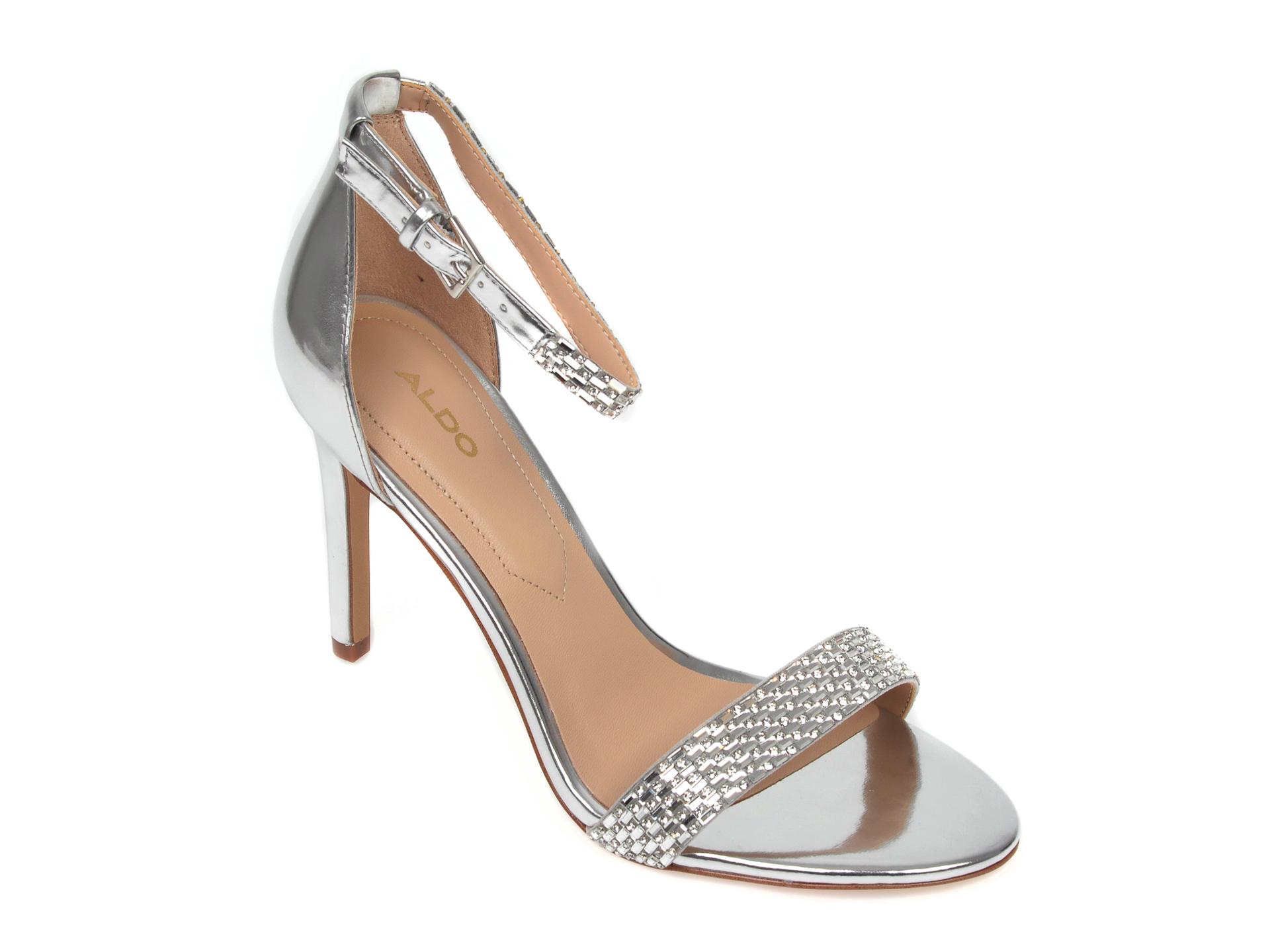 Sandale ALDO argintii, Prommy040, din piele ecologica imagine