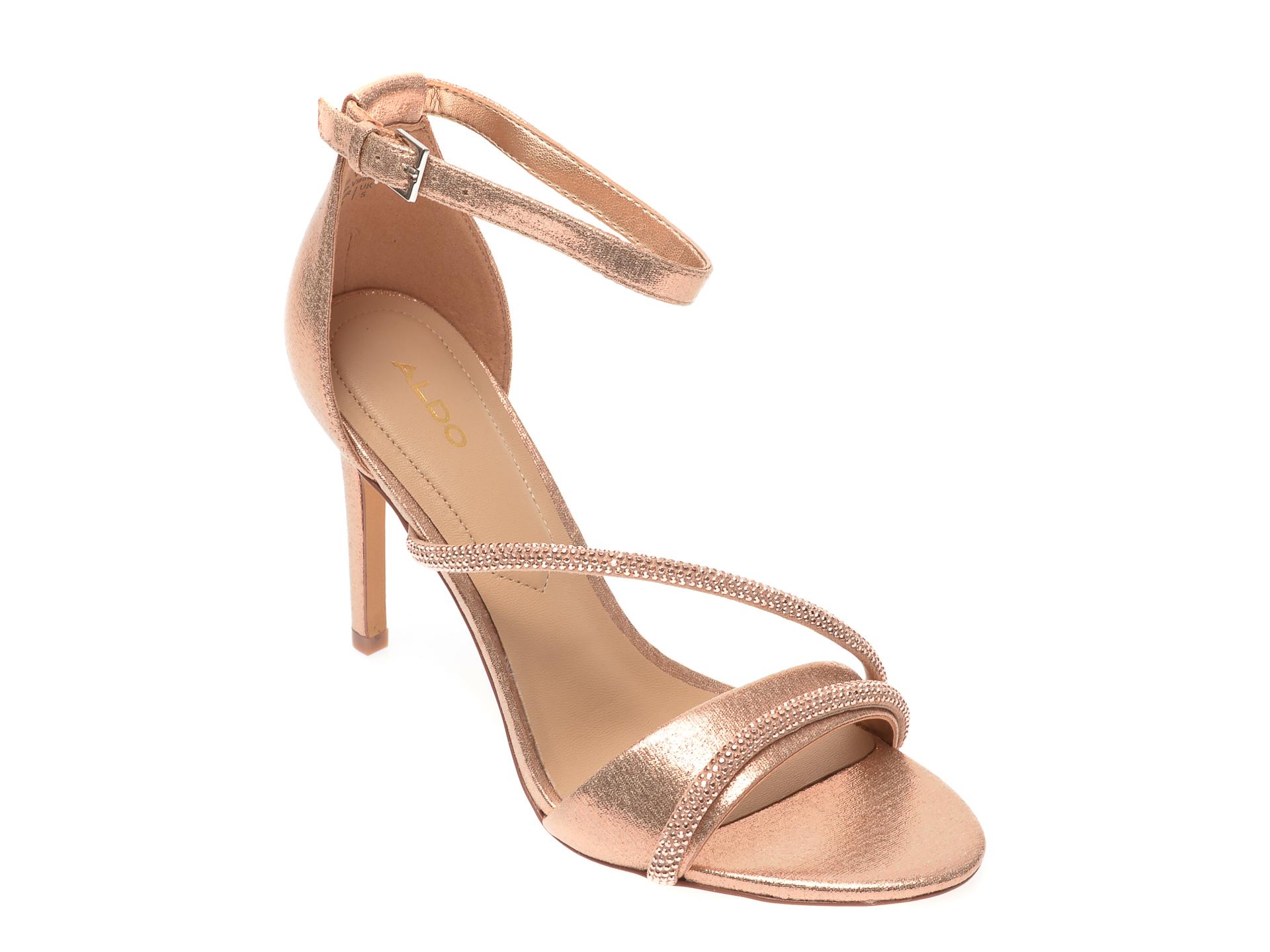 Sandale ALDO aurii, Kuprina653, din material textil imagine