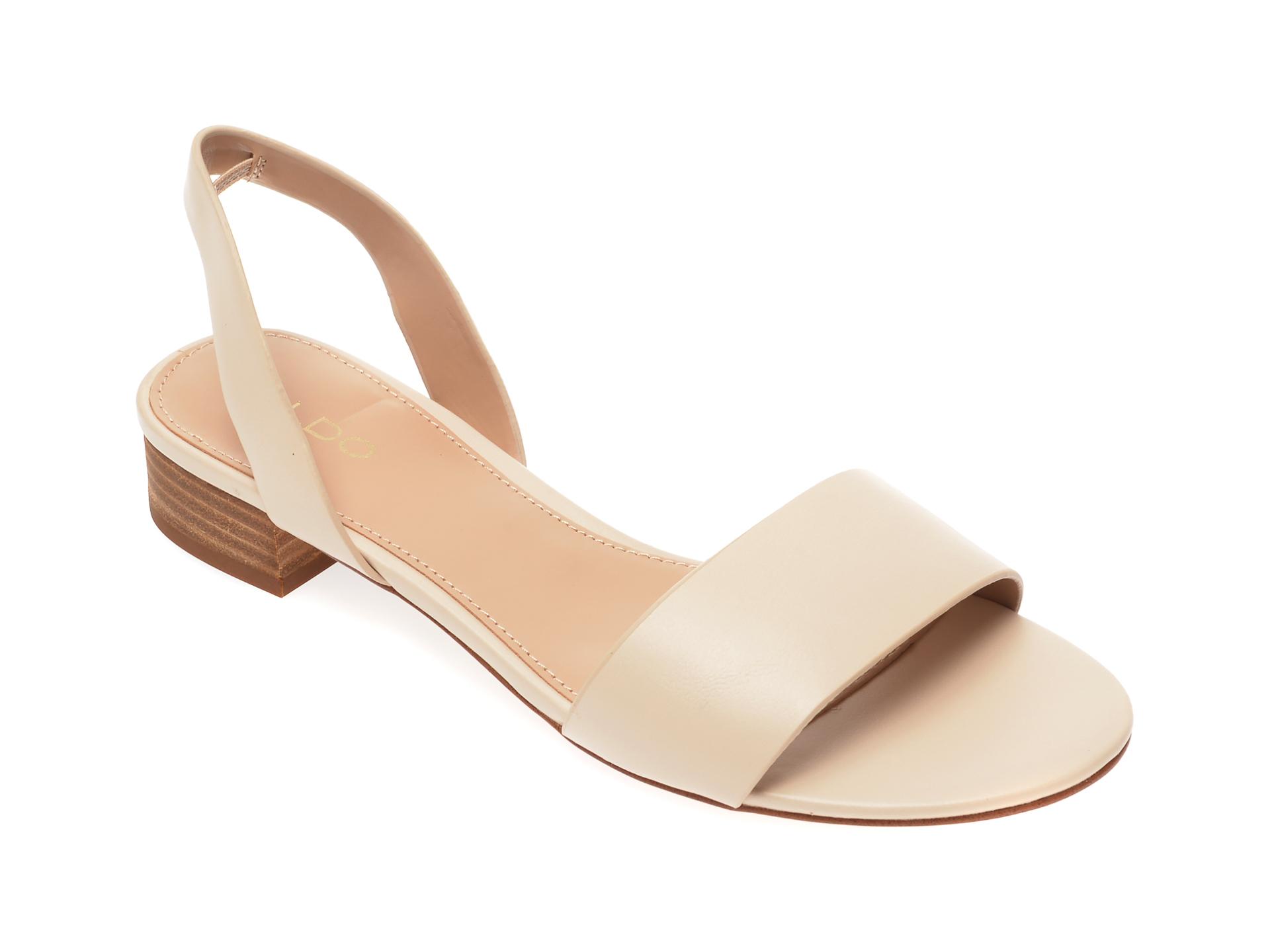 Sandale ALDO bej Candice270, din piele ecologica imagine
