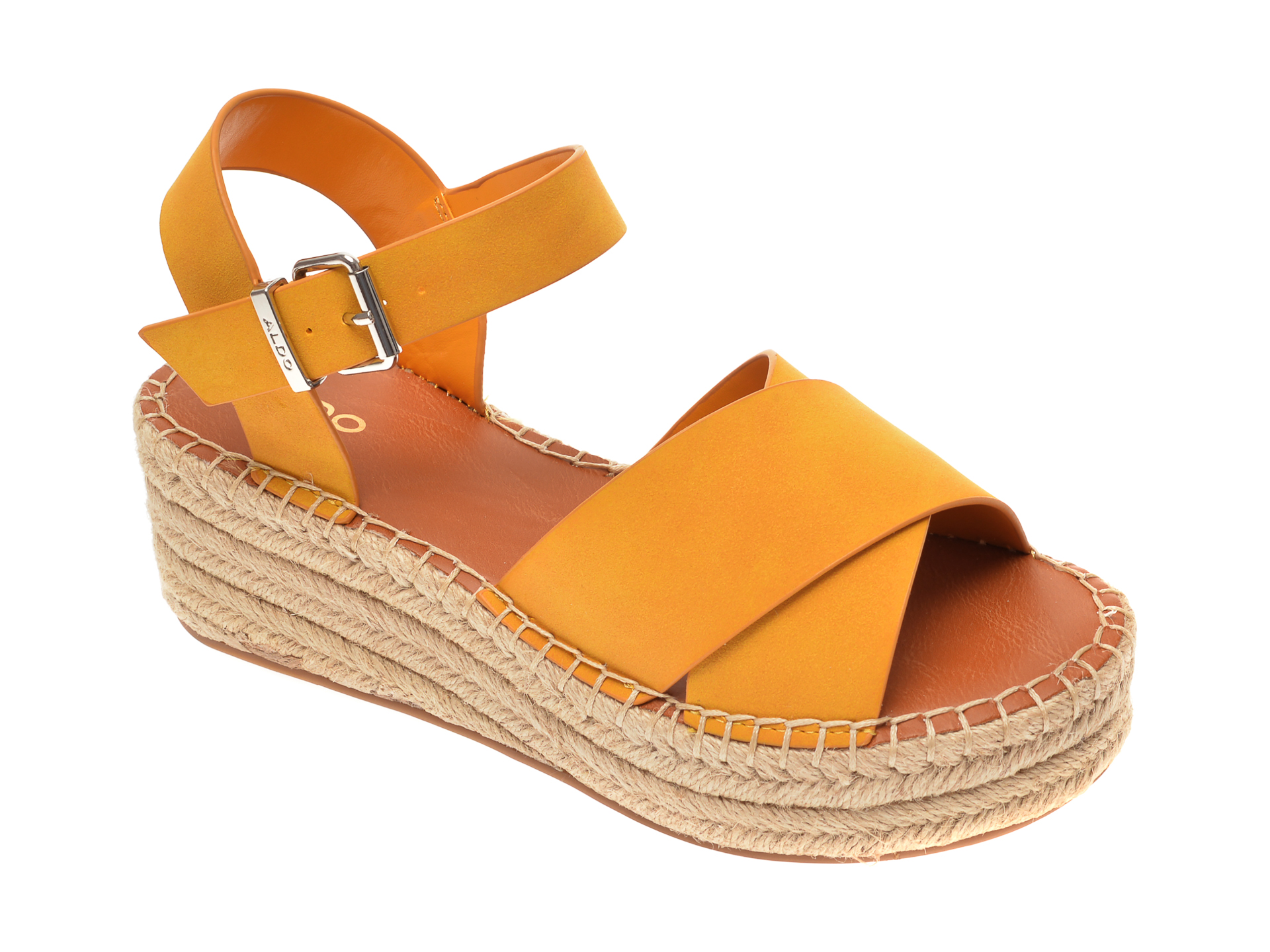 Sandale ALDO galbene, Tineviel700, din piele ecologica imagine