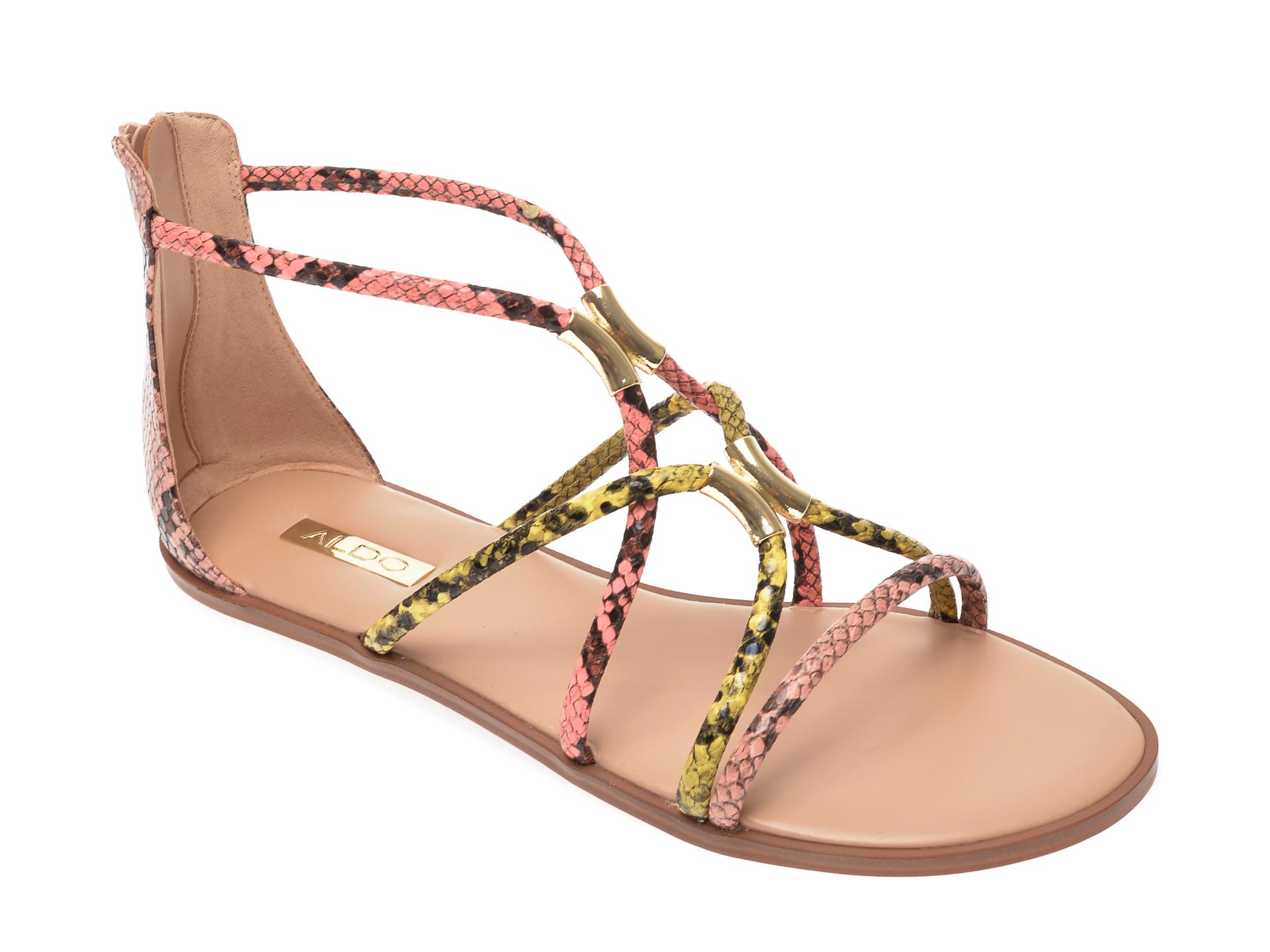 Sandale ALDO multicolore, Pozoa960, din piele ecologica imagine