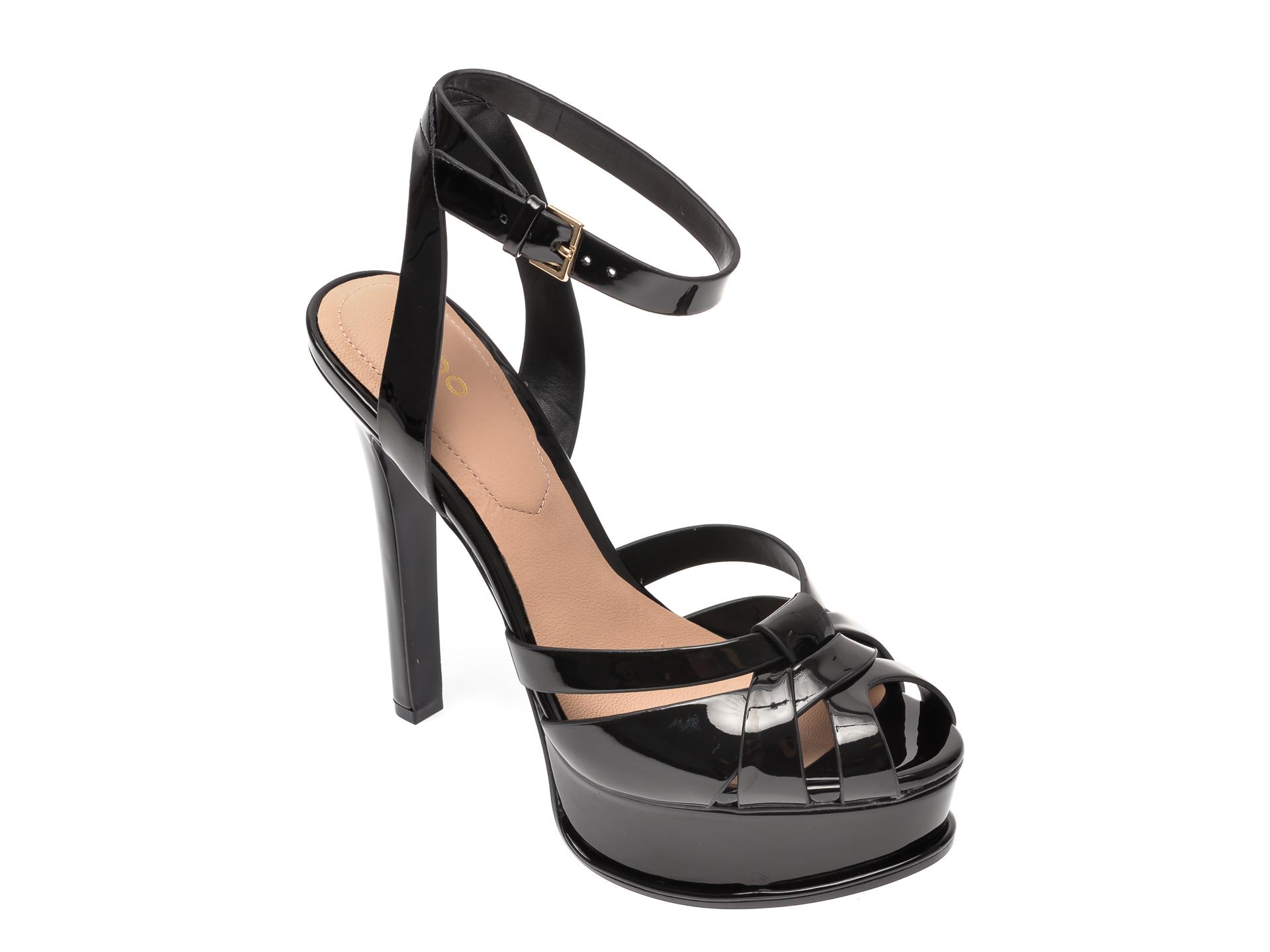 Sandale ALDO negre, Lacla001, din piele ecologica imagine