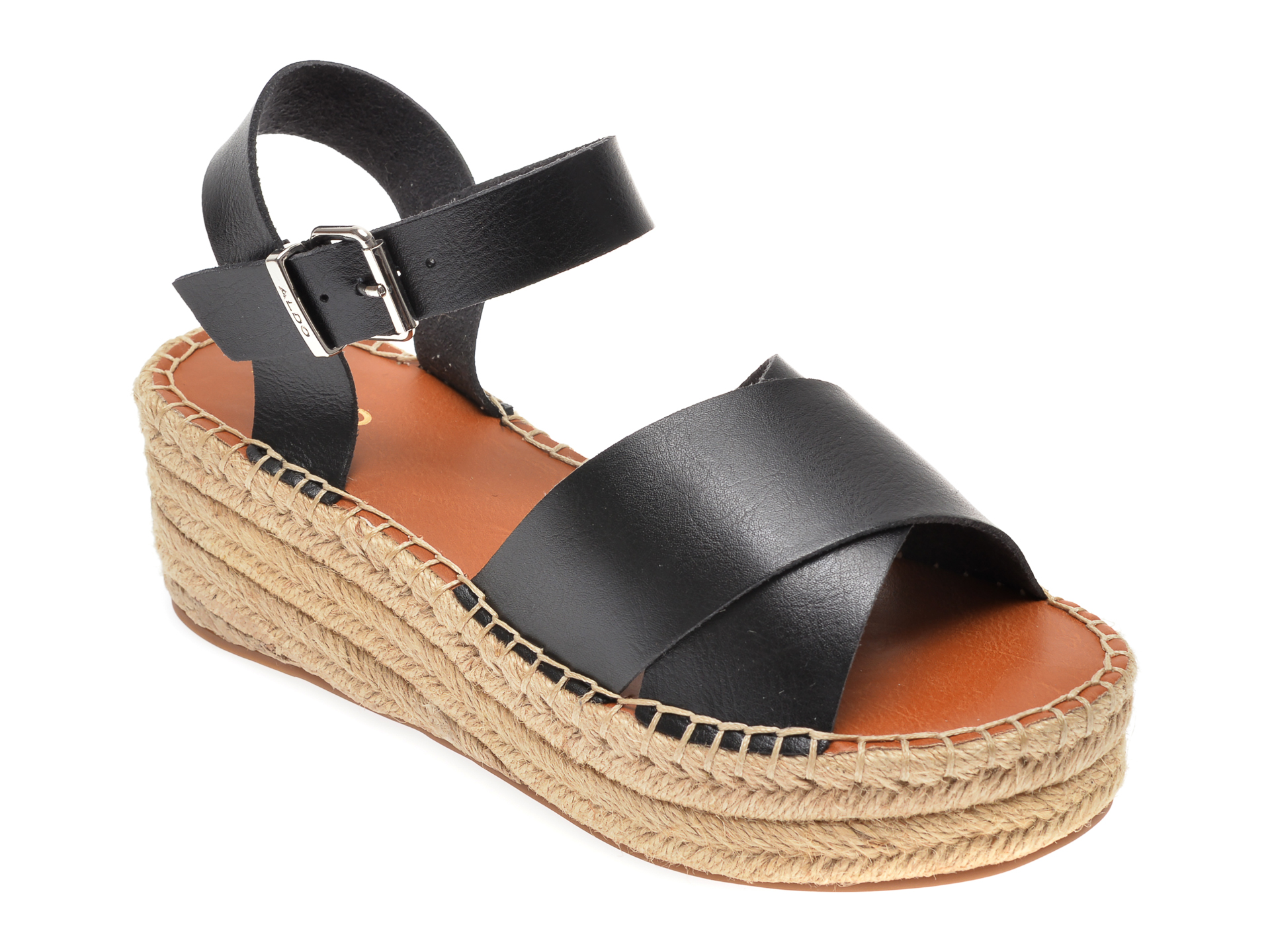 Sandale ALDO negre, Tineviel001, din piele ecologica imagine