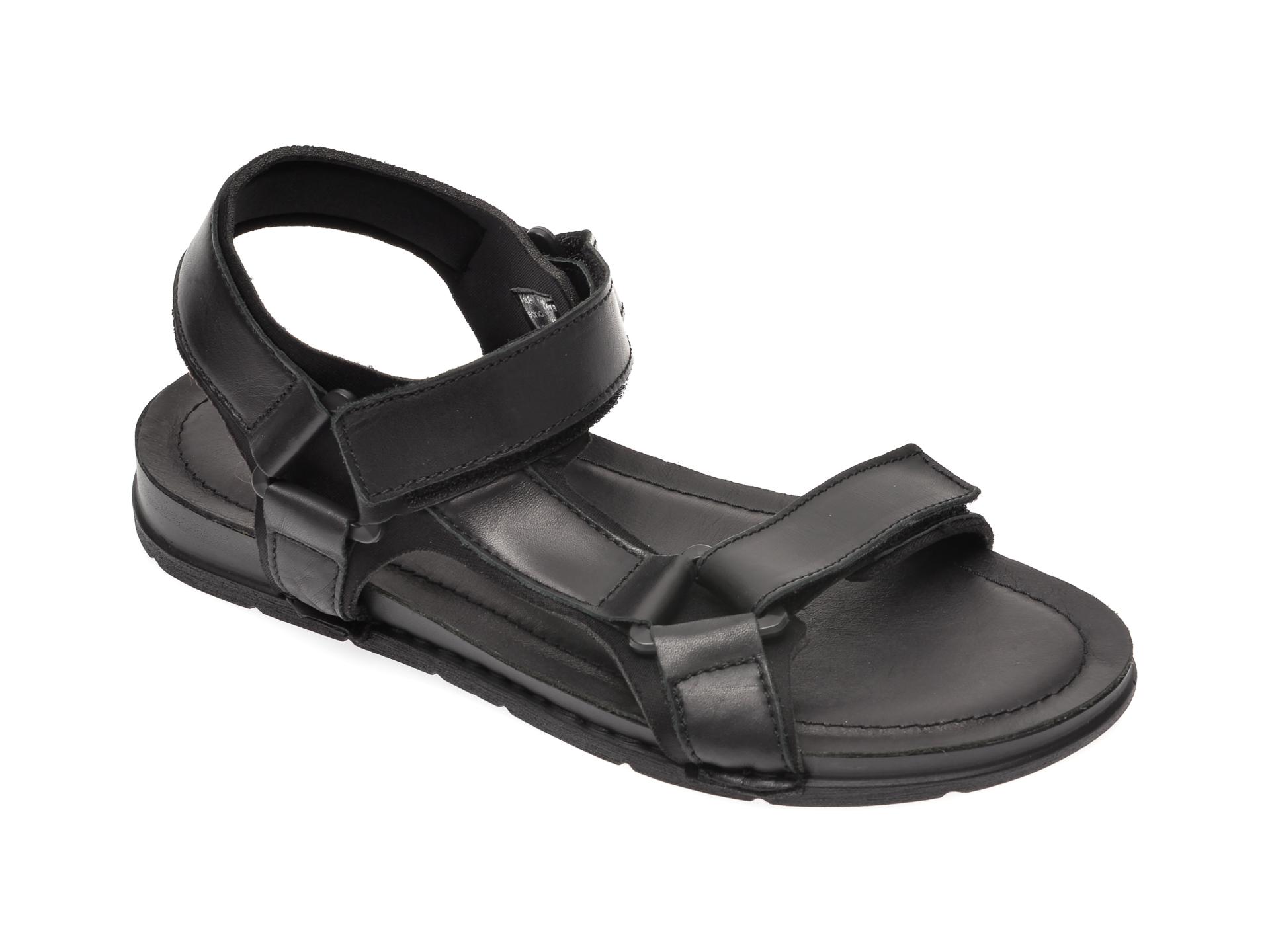 Sandale Aldo Negre, Uligolian001, Din Piele Naturala