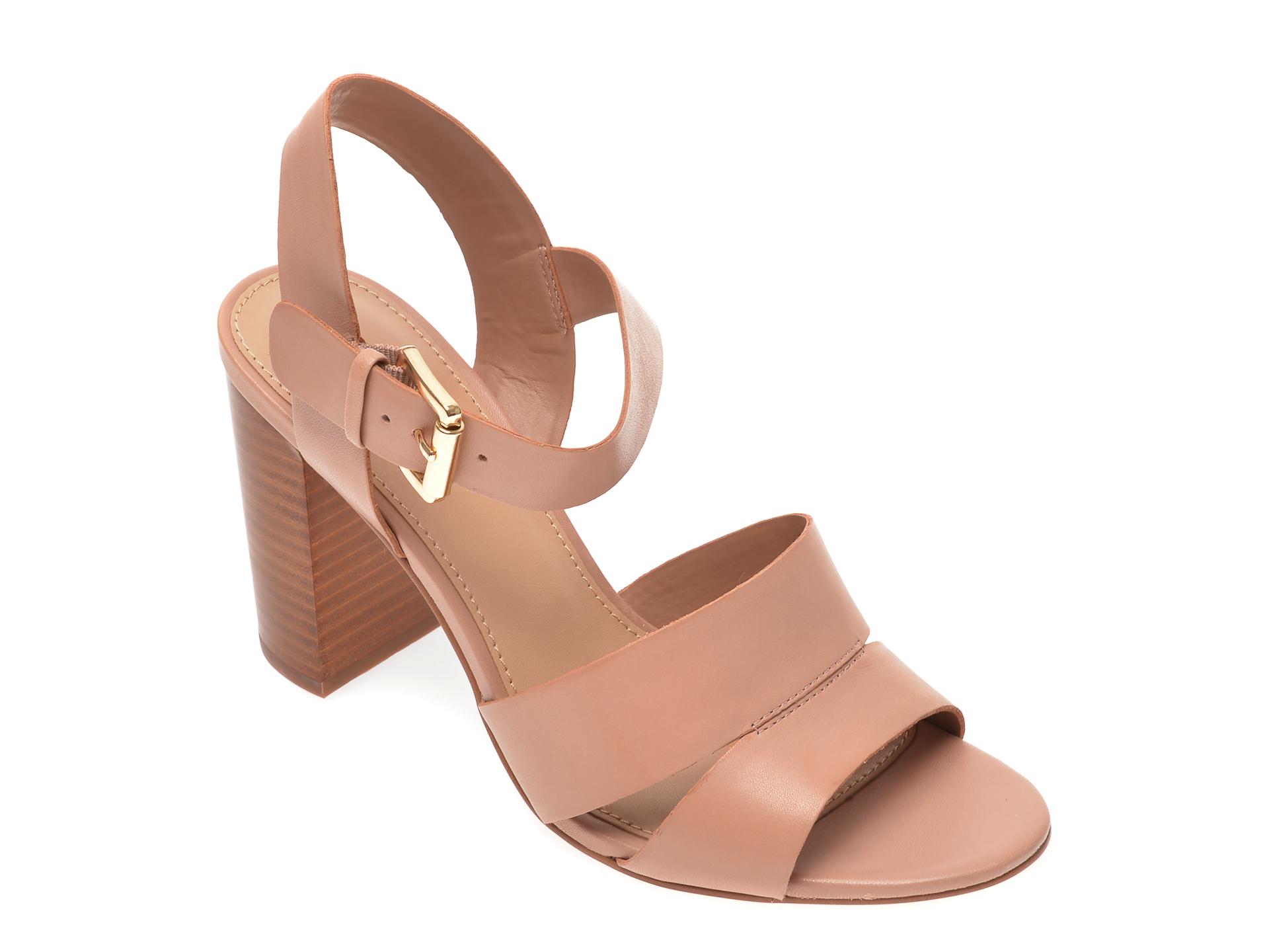 Sandale ALDO nude, Caparosa270, din piele naturala imagine