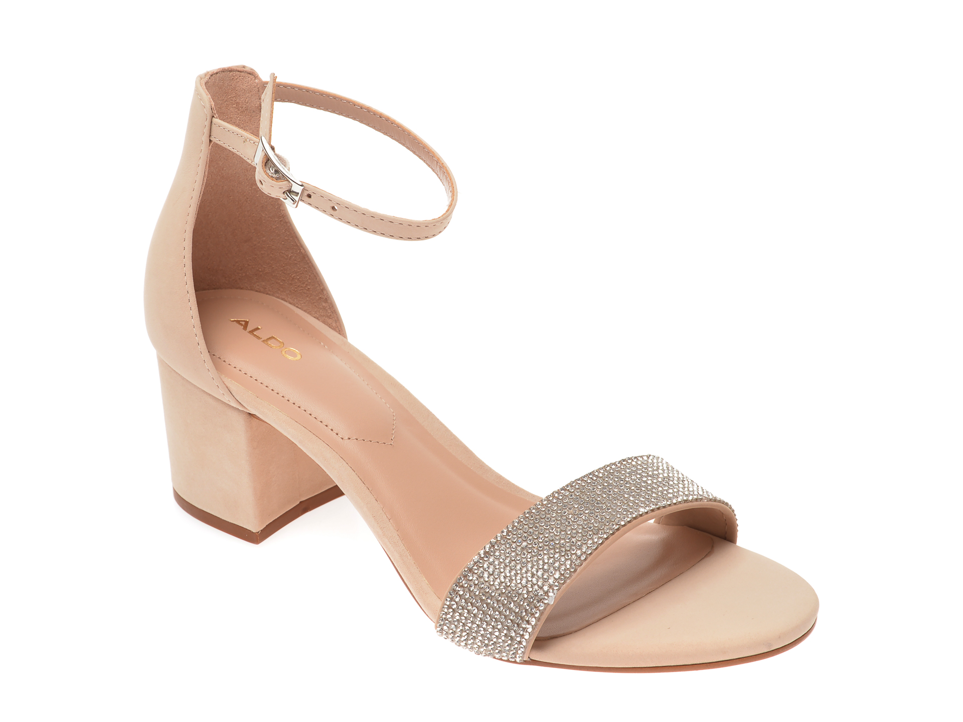 Sandale ALDO nude, Gladoniel270, din nabuc imagine