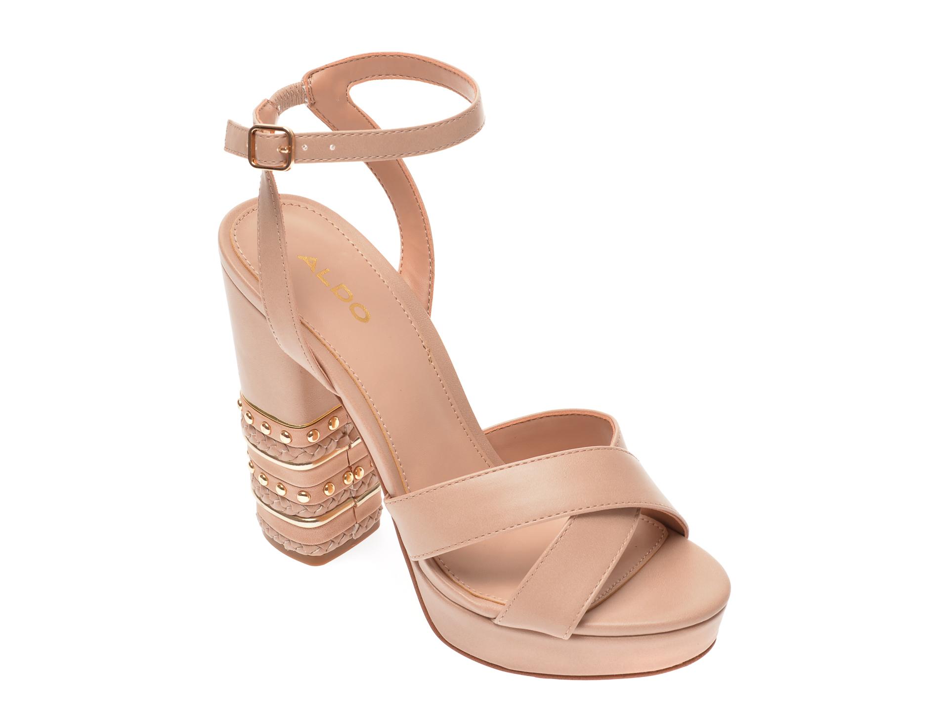 Sandale ALDO nude, Moomba680, din piele ecologica imagine