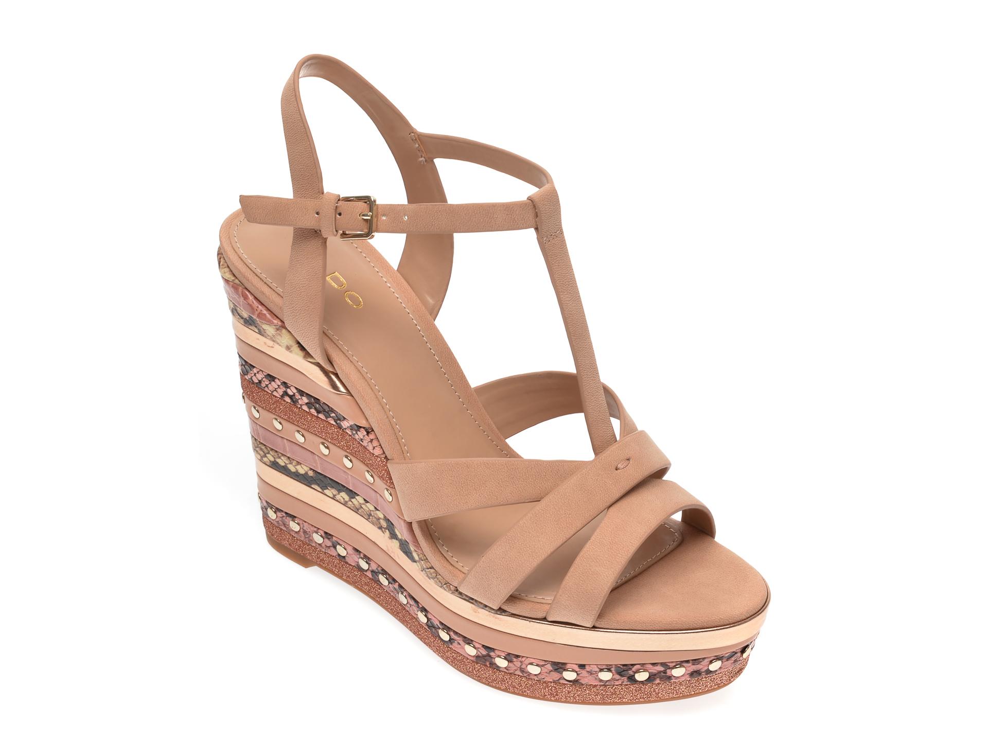 Sandale ALDO nude, Nydaycia240, din piele ecologica imagine
