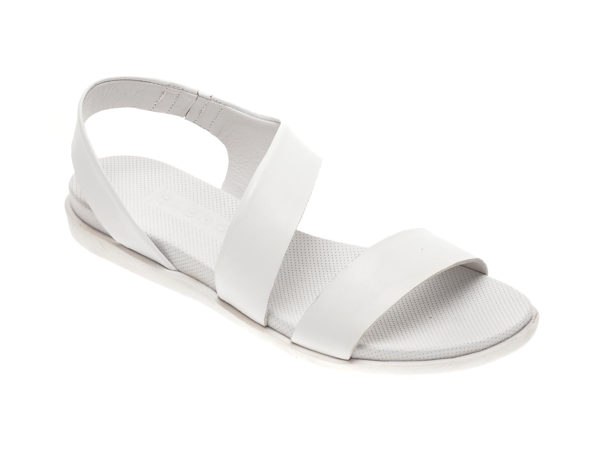 Sandale BABOOS albe, 1402, din piele naturala imagine