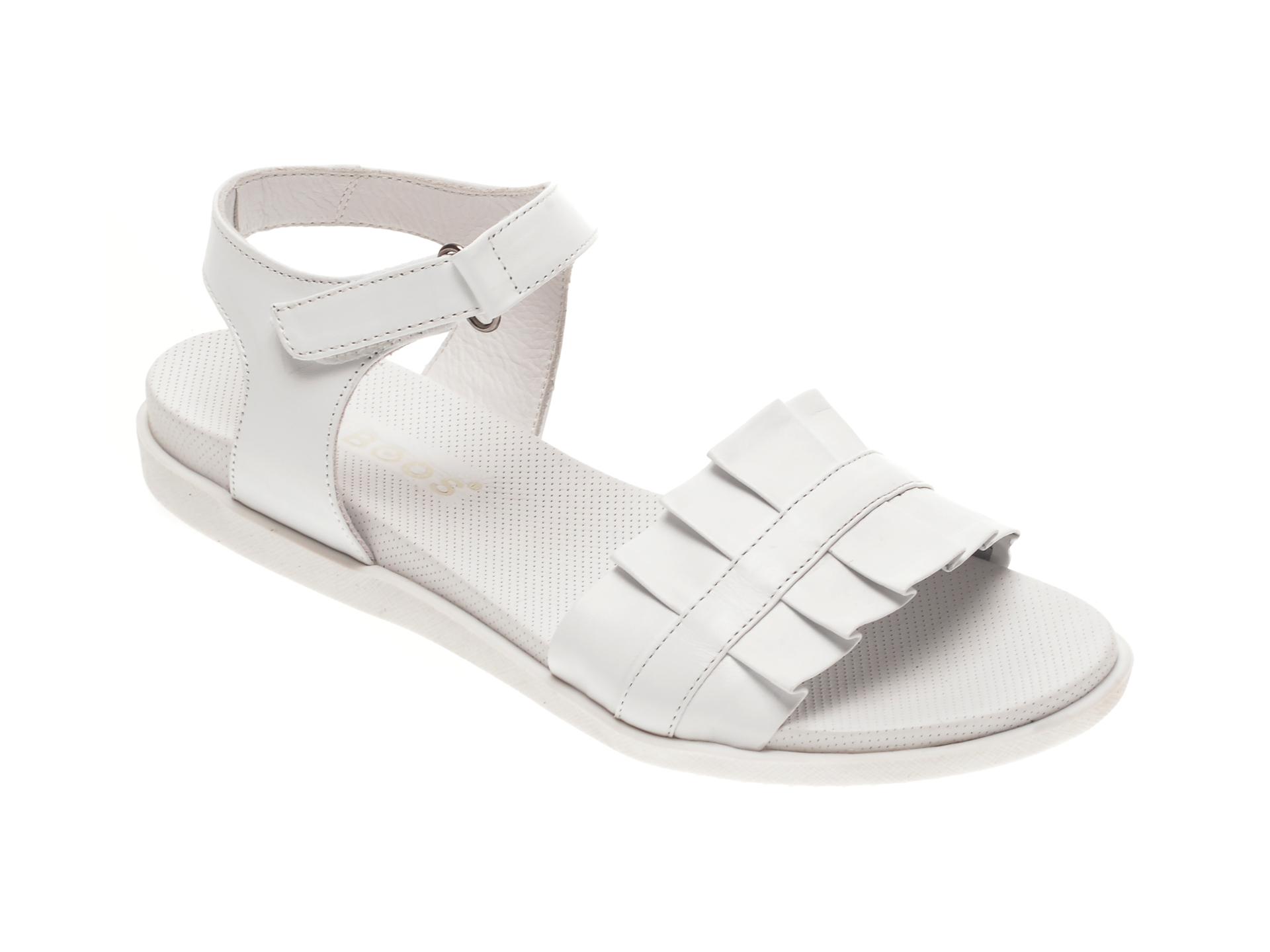 Sandale BABOOS albe, 1403, din piele naturala imagine