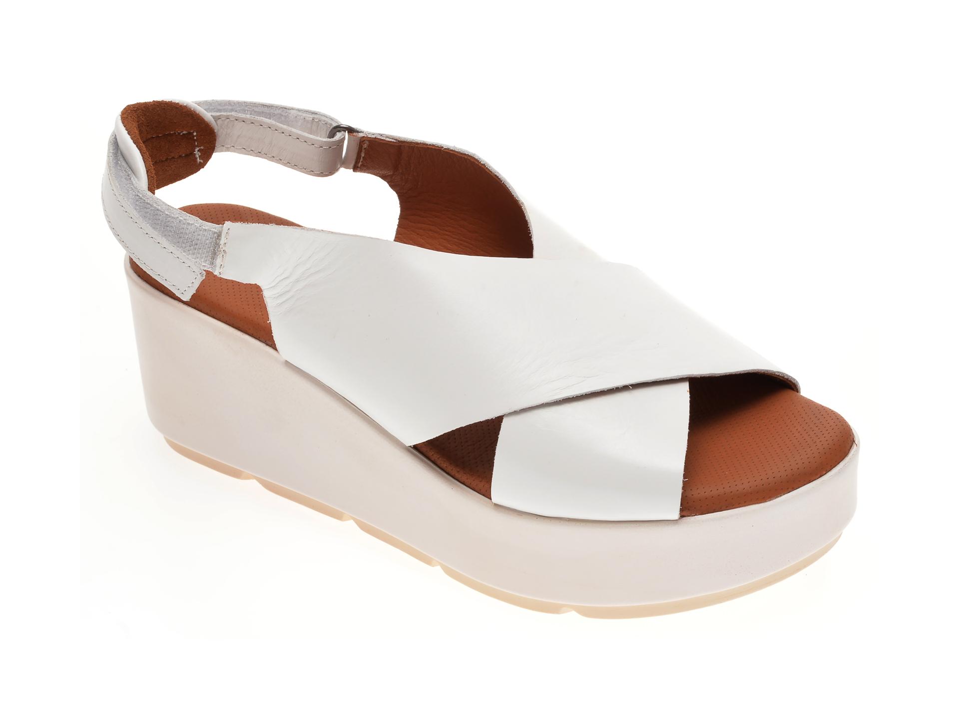 Sandale BABOOS albe, 2520, din piele naturala imagine