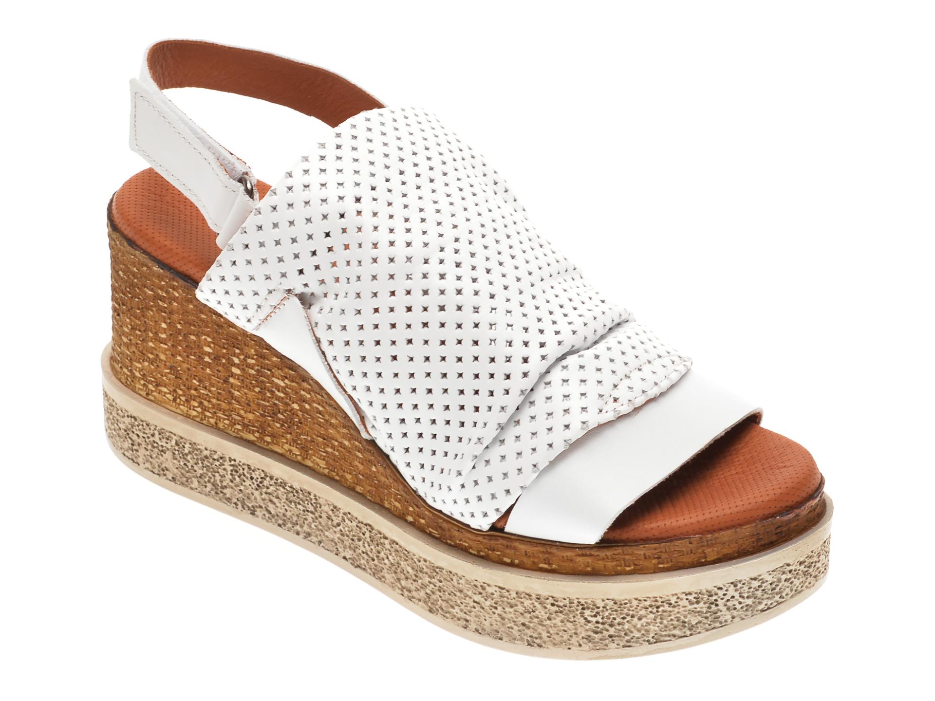 Sandale BABOOS albe, 852507, din piele naturala imagine