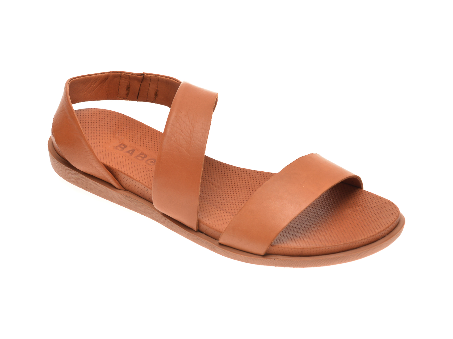 Sandale BABOOS maro, 1402, din piele naturala imagine