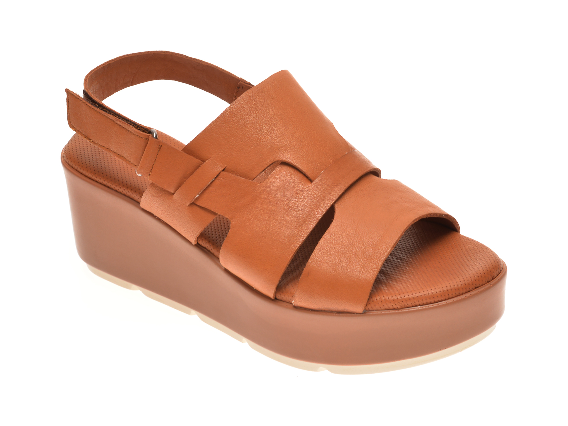 Sandale BABOOS maro, 2519, din piele naturala imagine