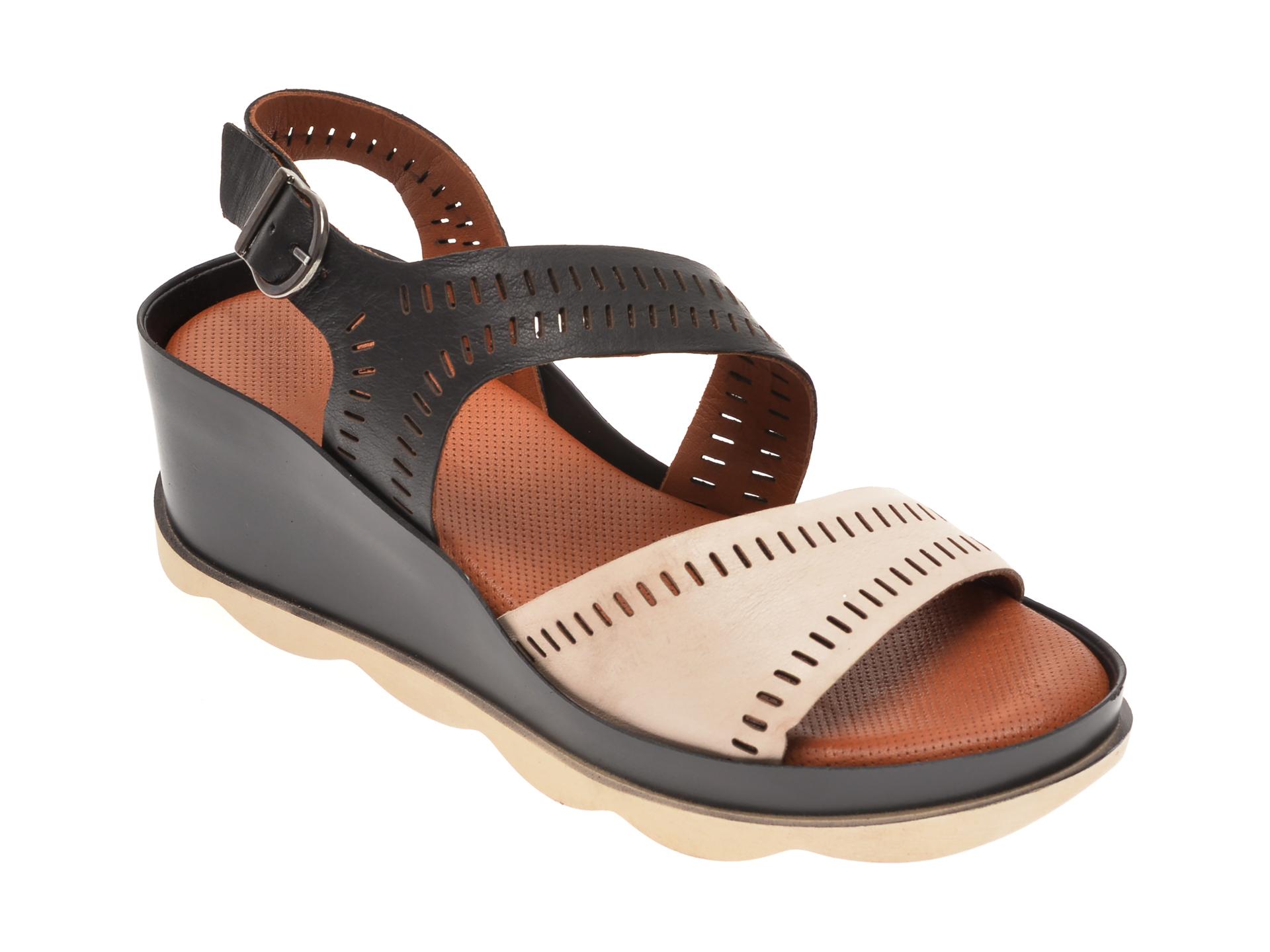 Sandale BABOOS negre, 0504, din piele naturala imagine