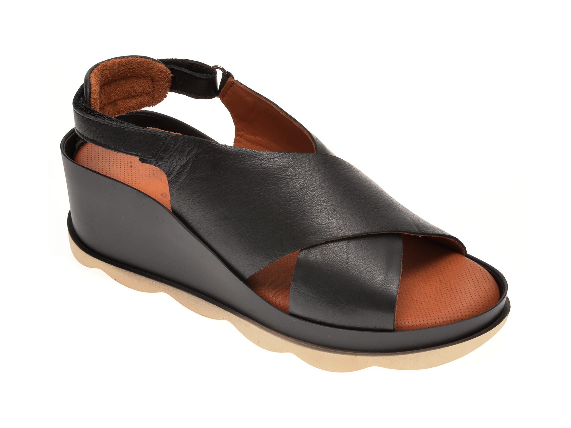 Sandale BABOOS negre, 0506, din piele naturala imagine