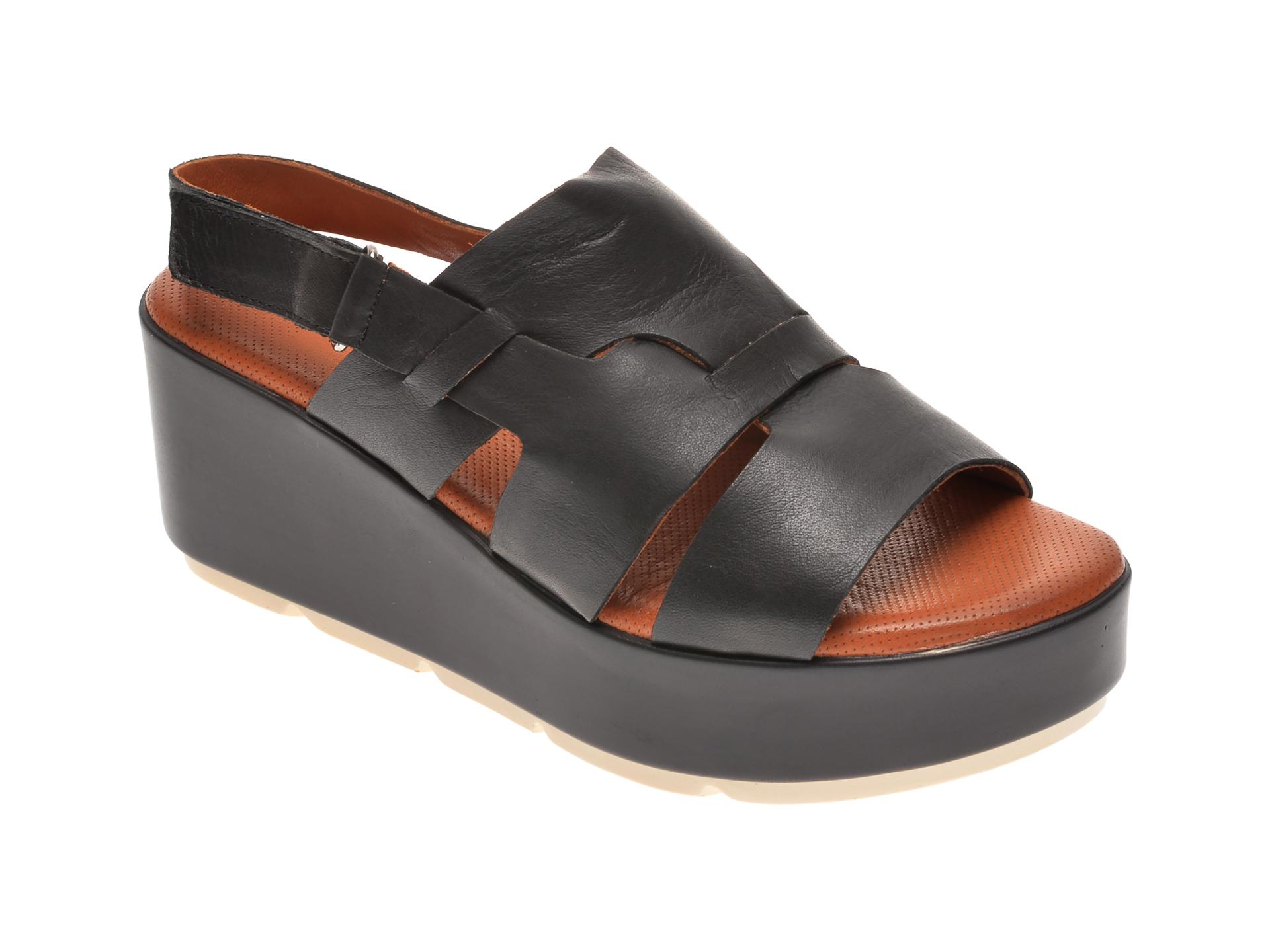 Sandale BABOOS negre, 2519, din piele naturala imagine